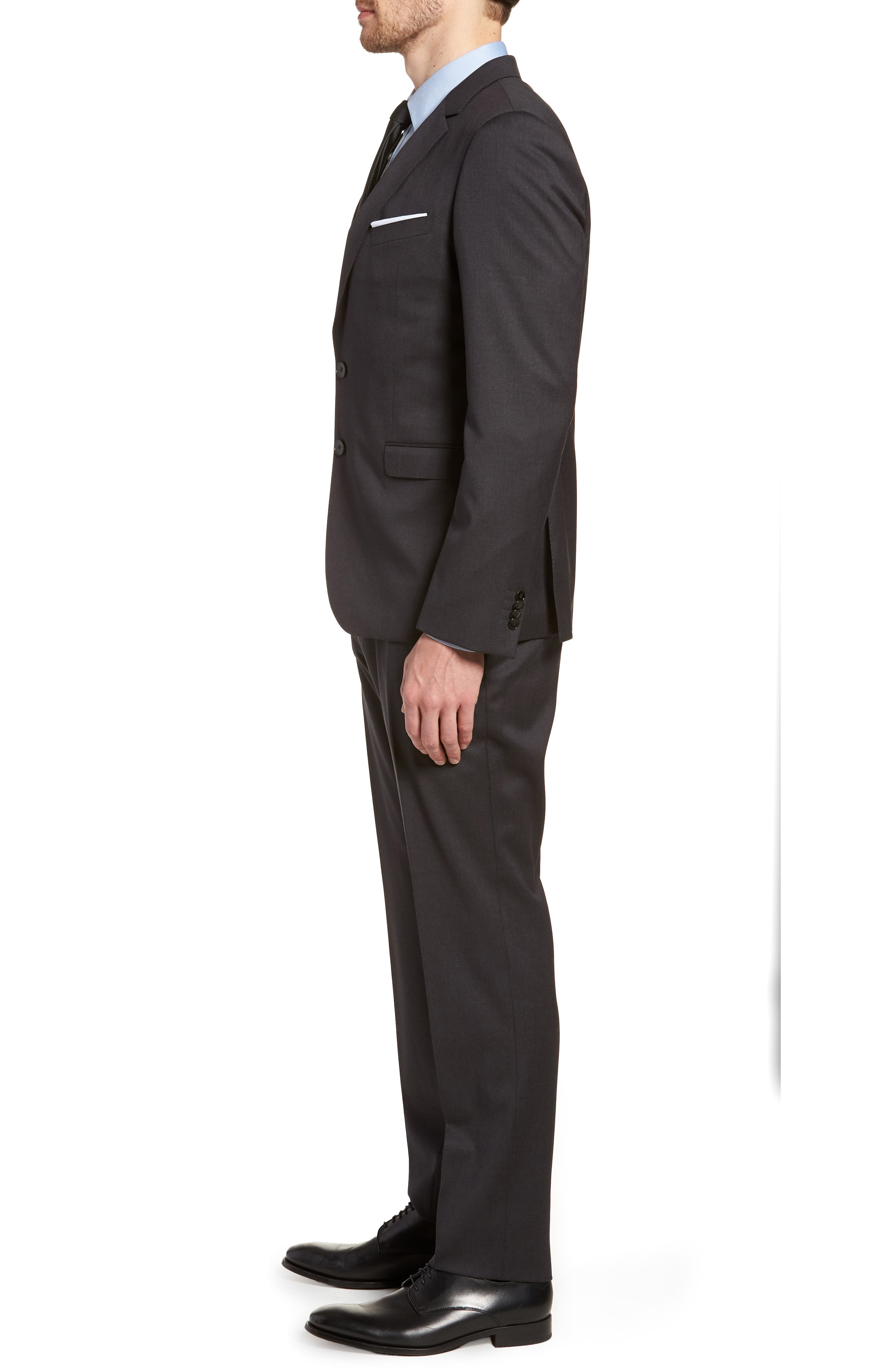 'Ryan/Win' Extra Trim Fit Solid Wool Suit,                             Alternate thumbnail 3, color,                             021