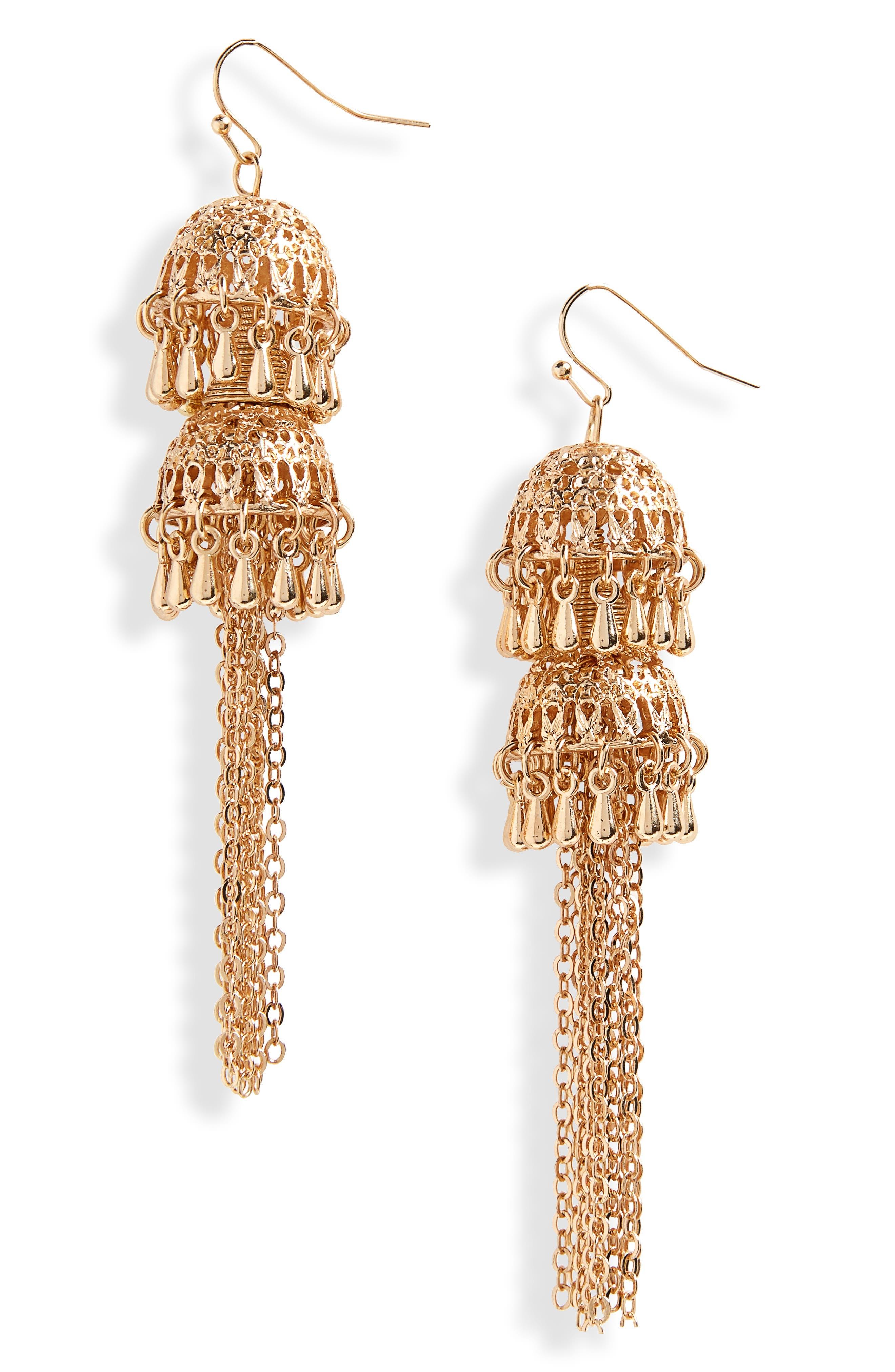 Bell Drop Earrings,                             Main thumbnail 1, color,                             710