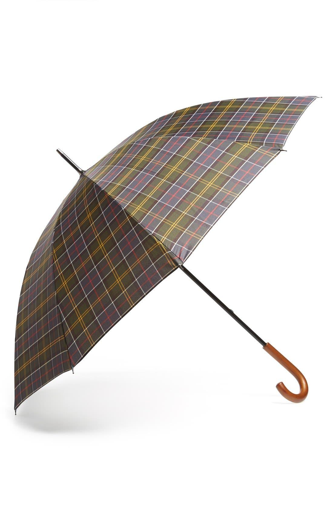 Tartan Golf Umbrella,                         Main,                         color, 300