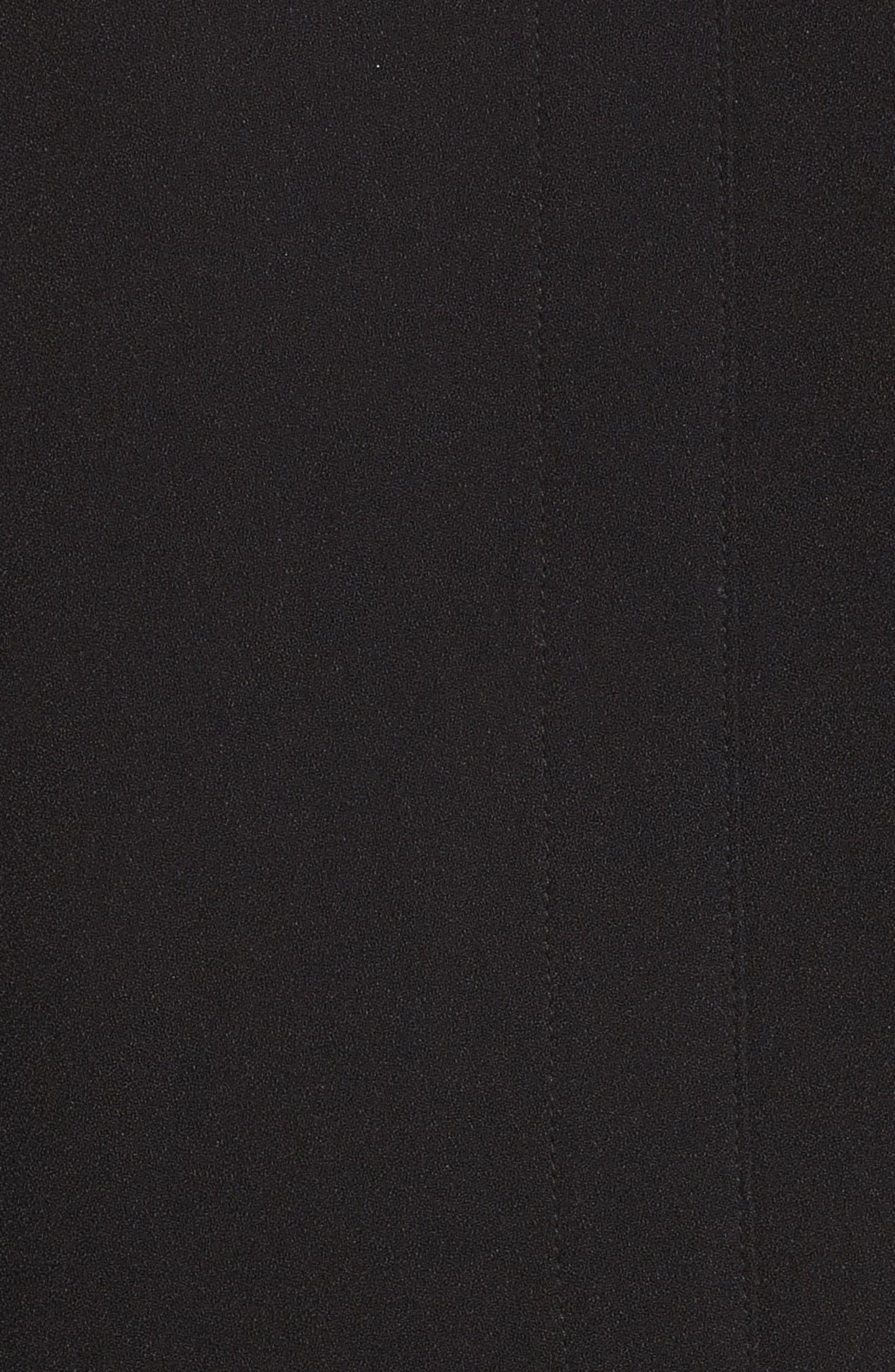 Crepe Wrap Top,                             Alternate thumbnail 5, color,                             BLACK
