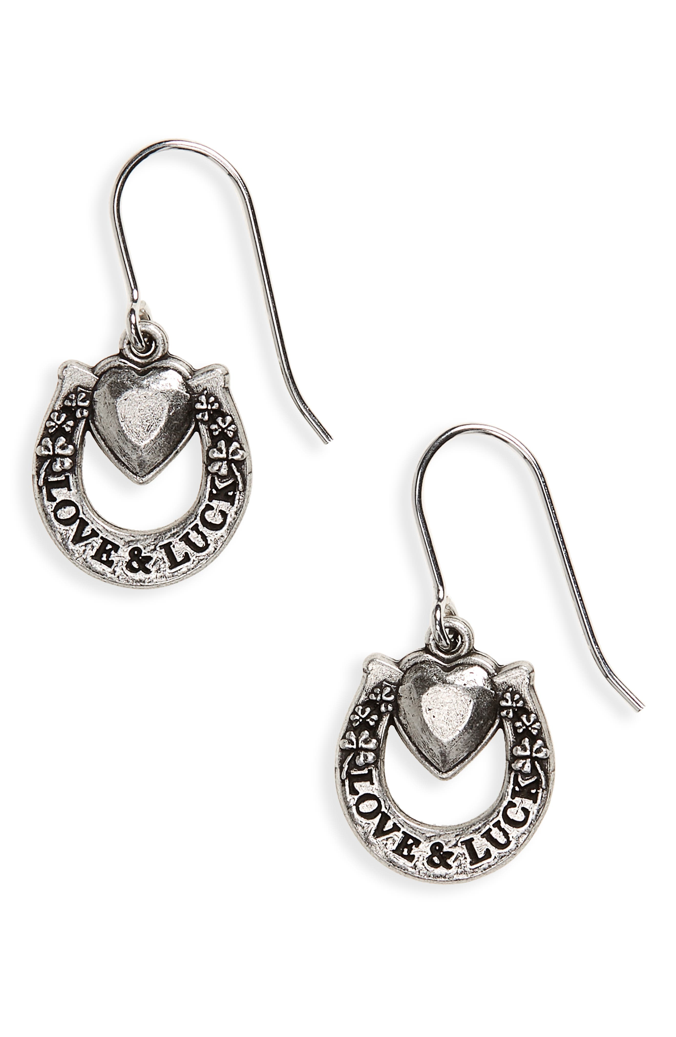 Fortune's Favor Drop Earrings,                         Main,                         color, SILVER