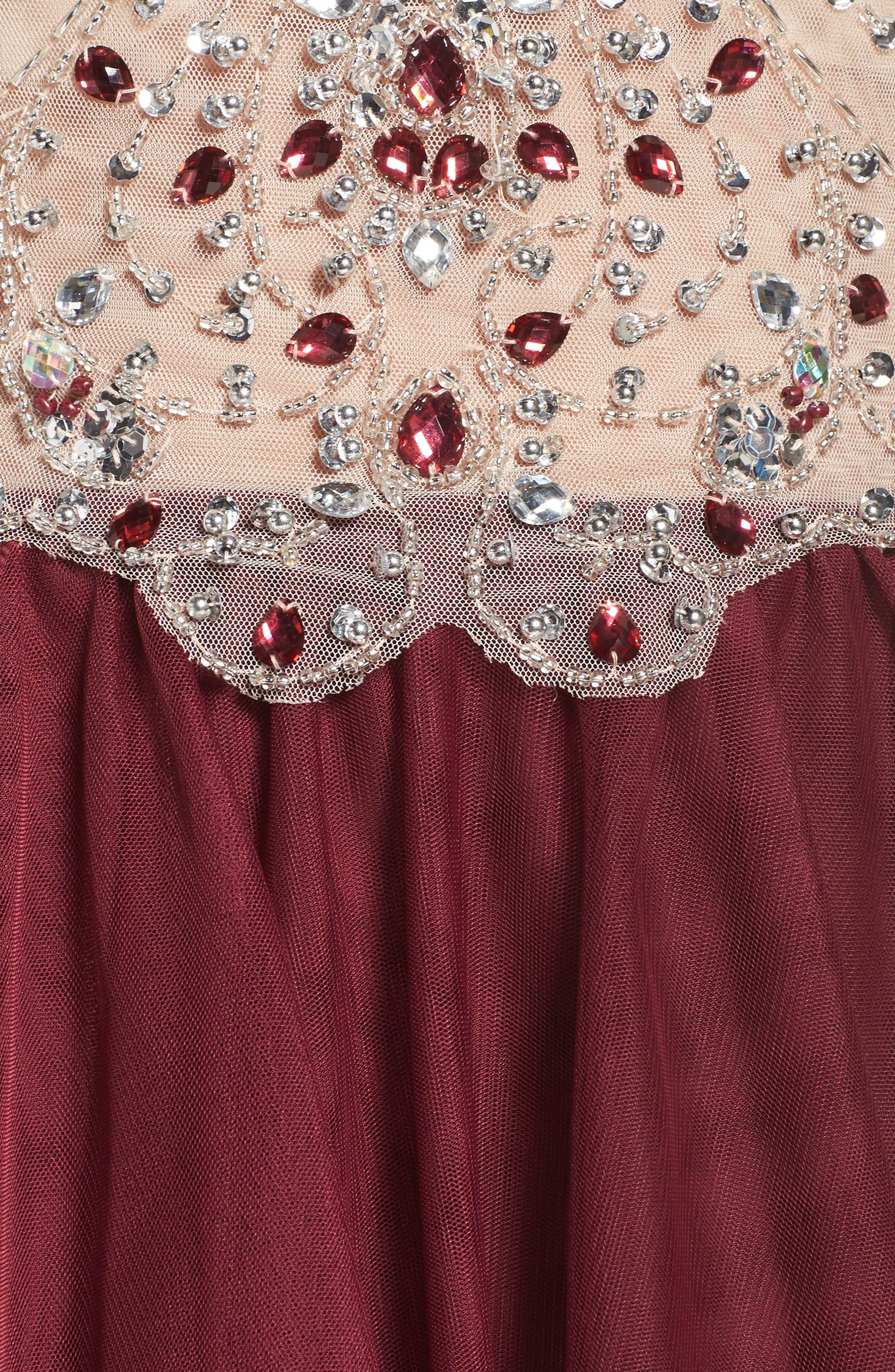 Fit & Flare Dress,                             Alternate thumbnail 6, color,                             649