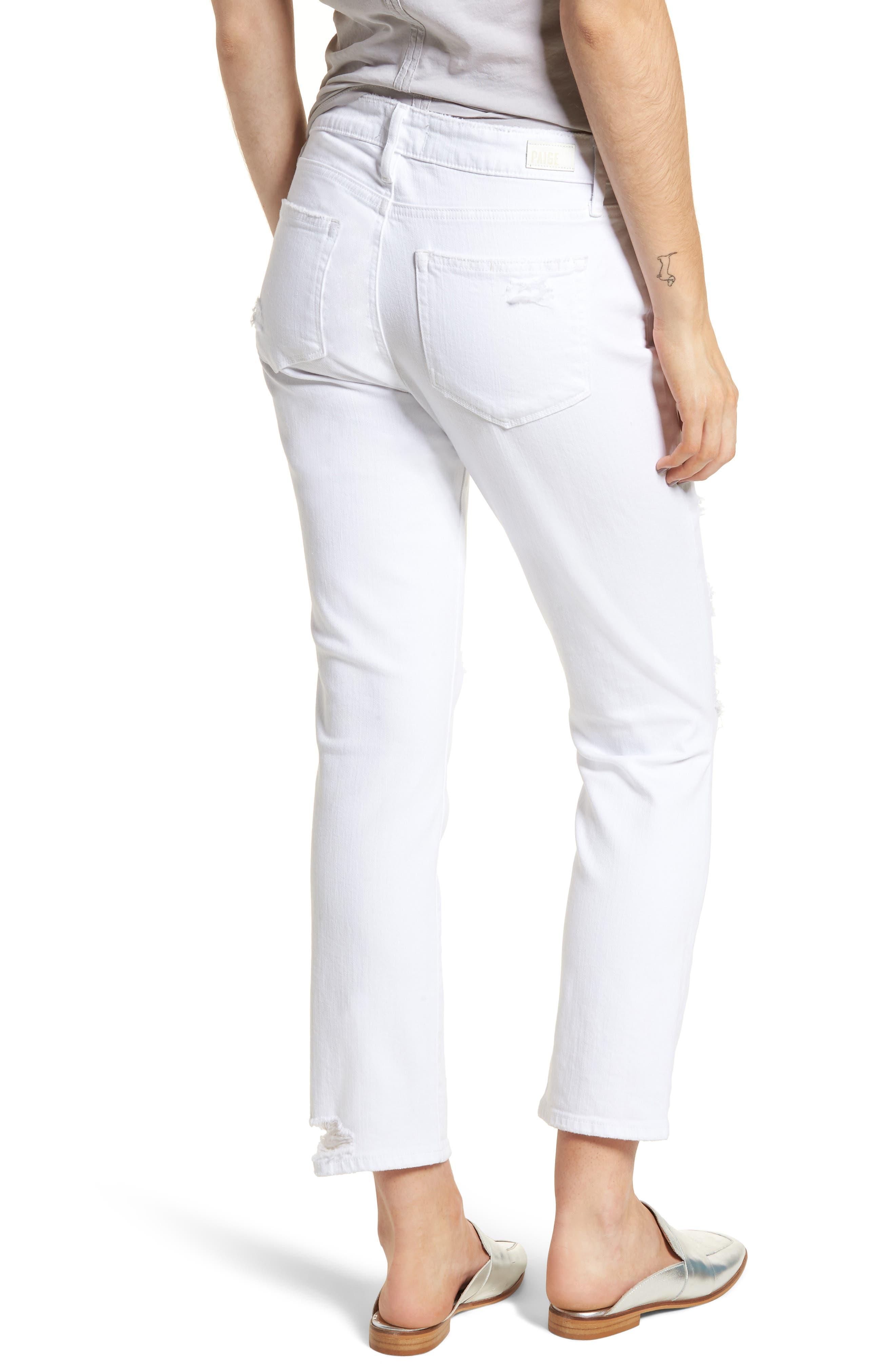 Brigitte Ripped Crop Boyfriend Jeans,                             Alternate thumbnail 2, color,                             100