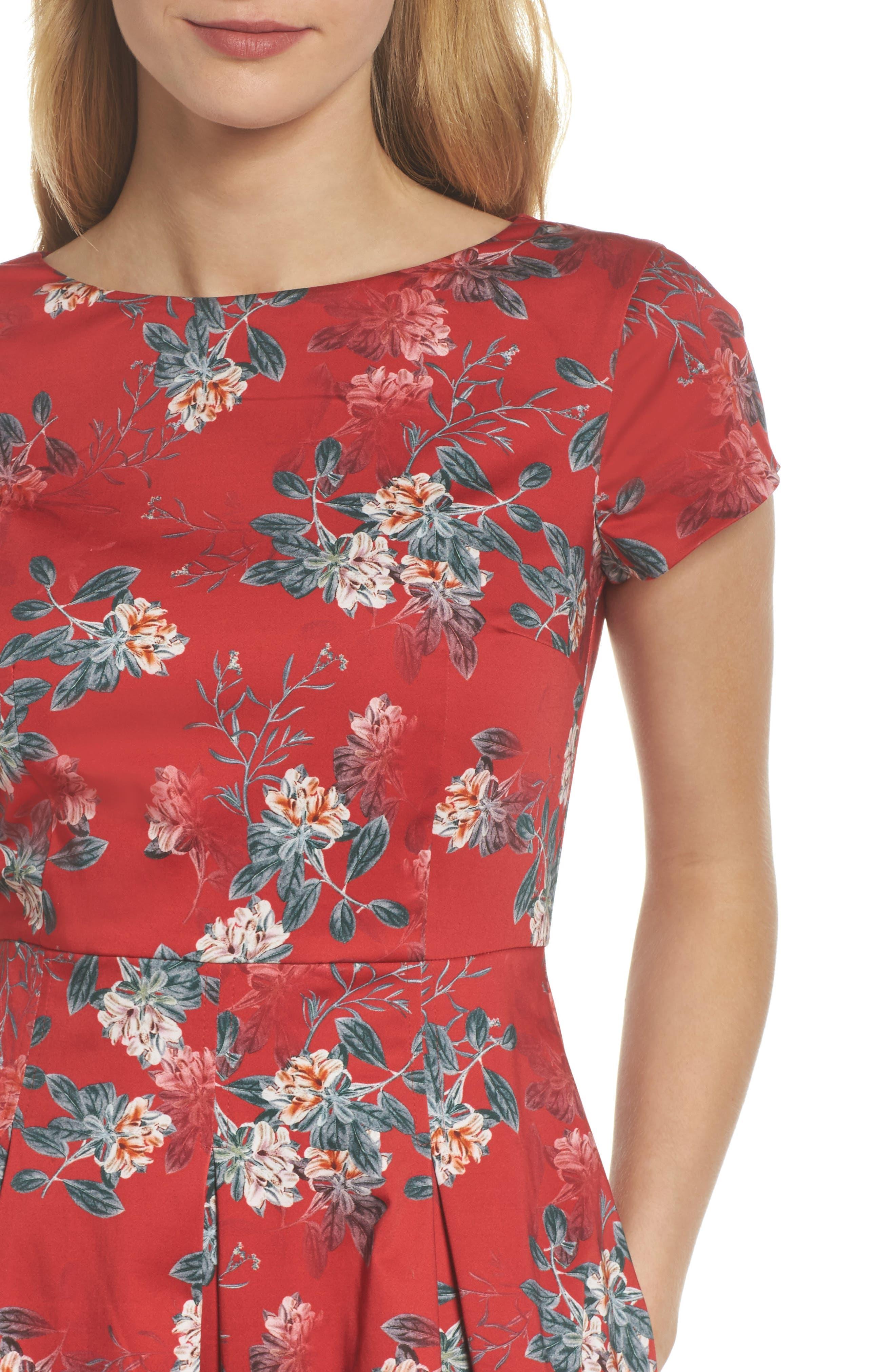 Kioa Fit & Flare Dress,                             Alternate thumbnail 6, color,