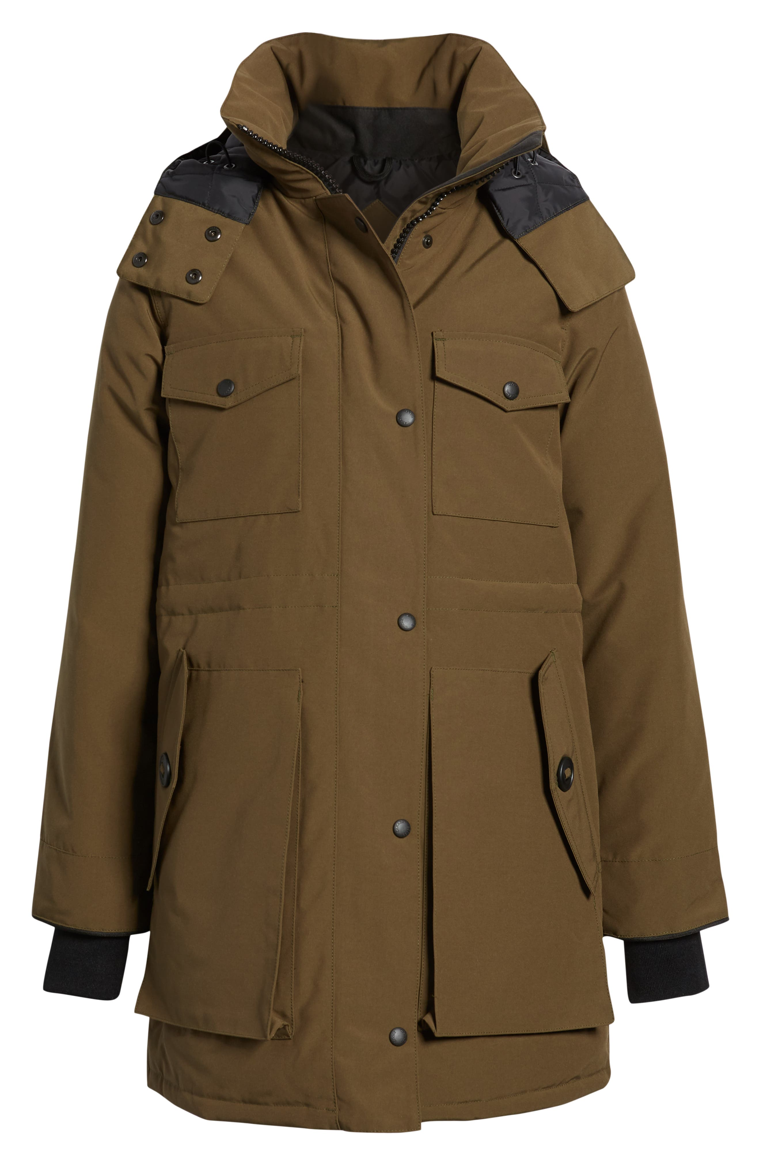 Gabriola Water Resistant Arctic Tech 625 Fill Power Down Parka,                             Alternate thumbnail 4, color,                             MILITARY GREEN