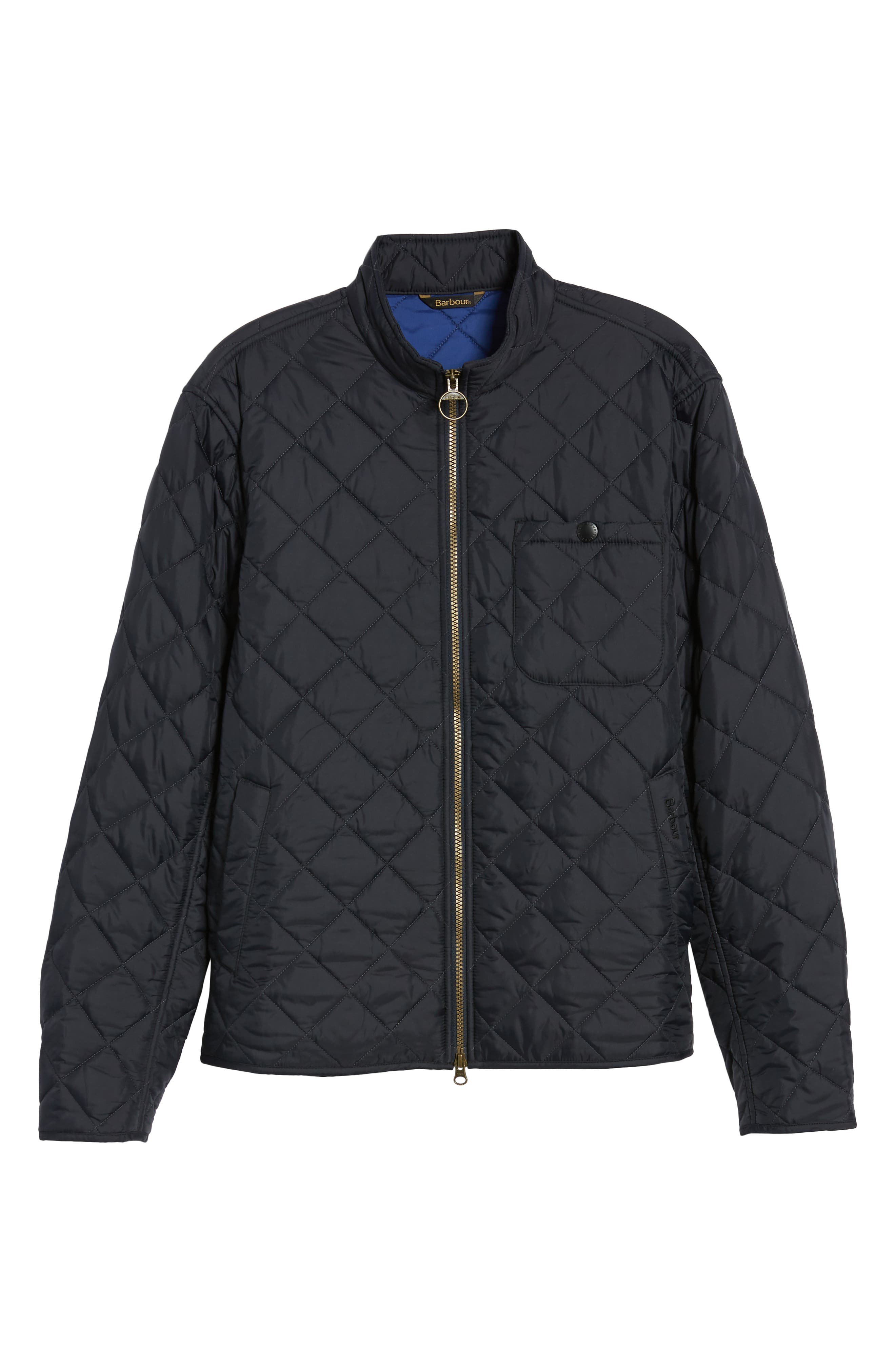 Pod Slim Fit Quilted Jacket,                             Alternate thumbnail 5, color,                             NAVY/ BLUE