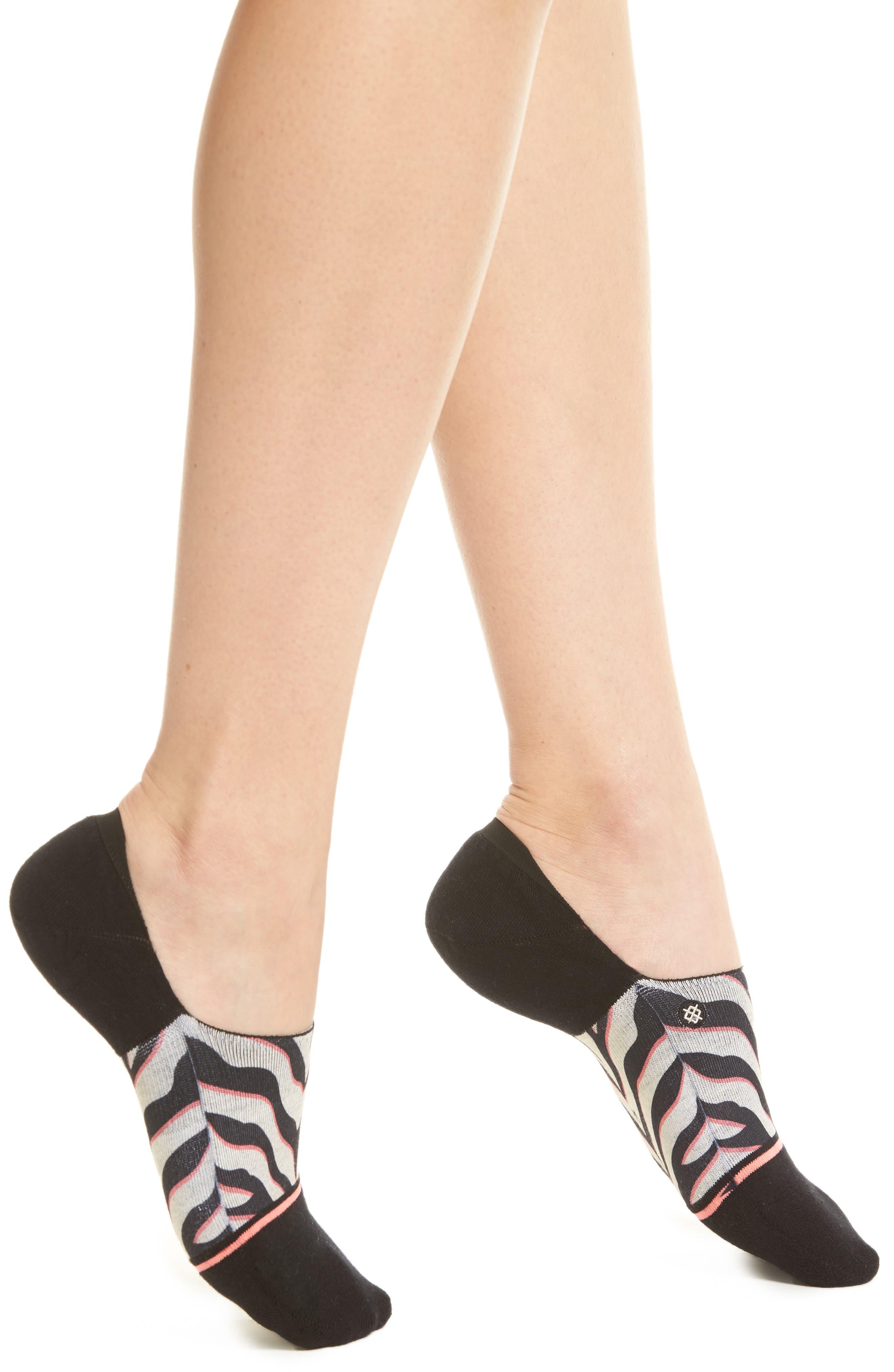 Checotah Super Invisible No-Show Socks,                         Main,                         color, BLACK
