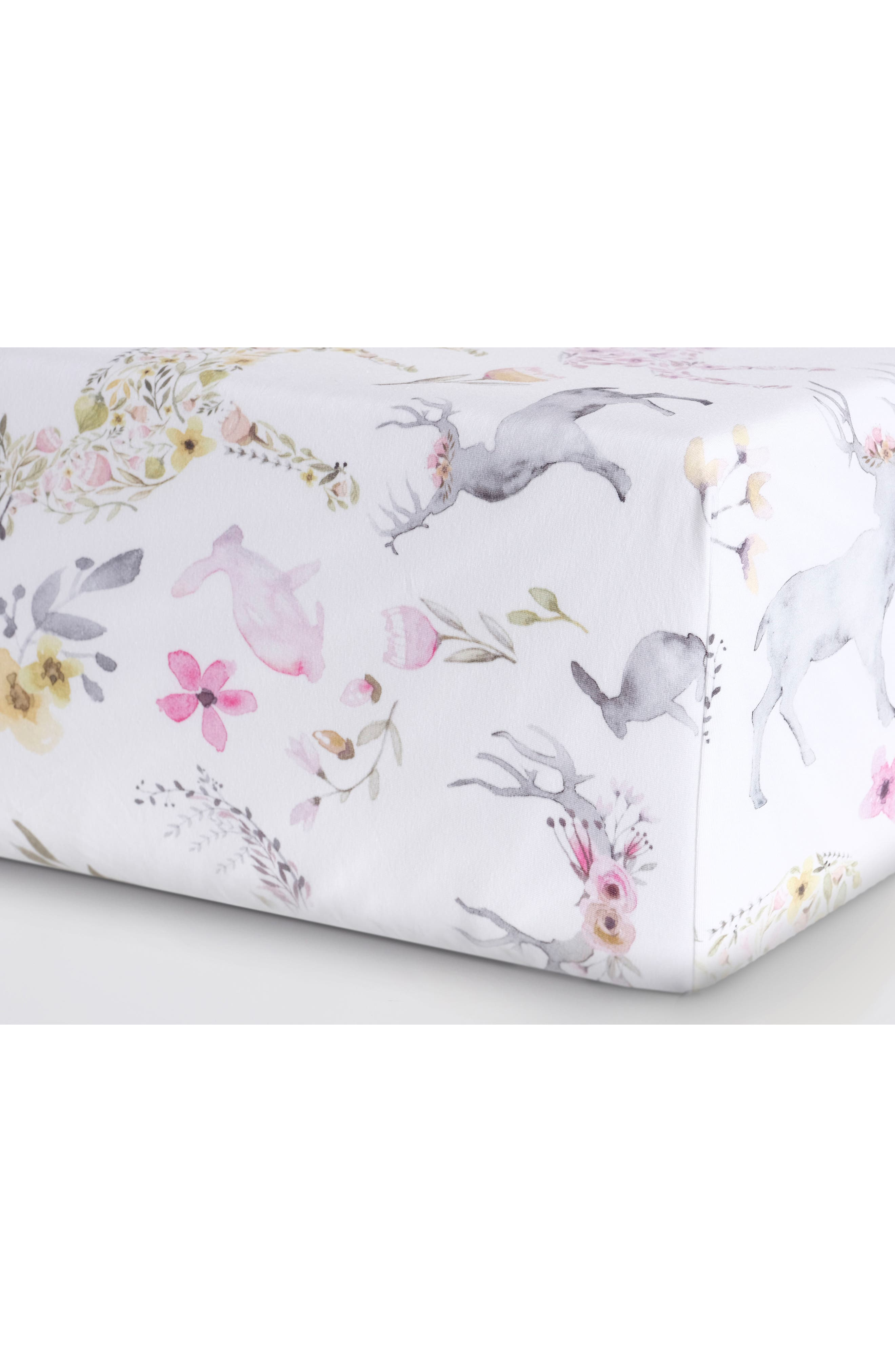 Fitted Crib Sheet,                             Alternate thumbnail 2, color,                             BLUSH FAWN