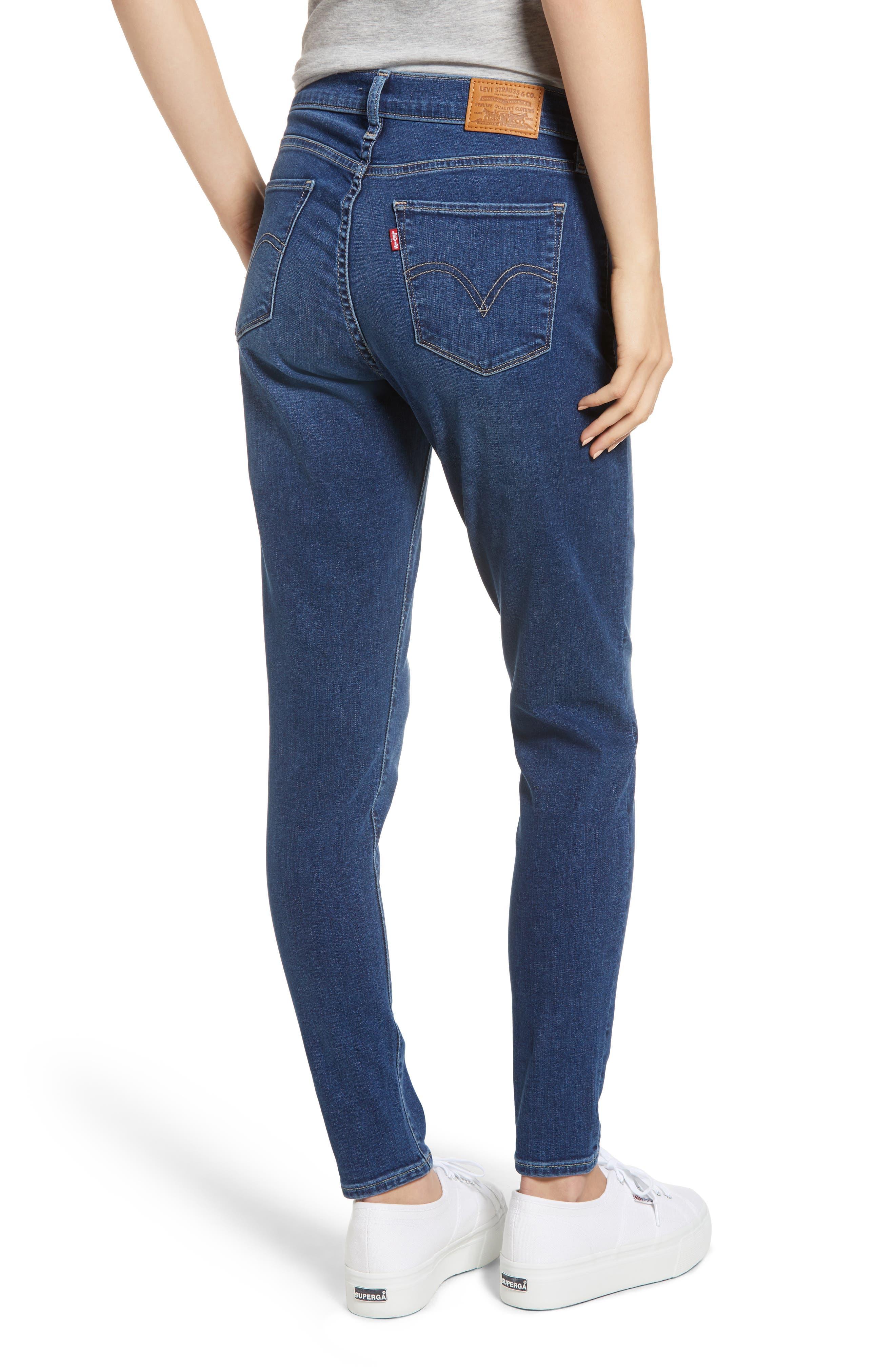 Curvy Skinny Jeans,                             Alternate thumbnail 2, color,                             INDIGO MEDIAN