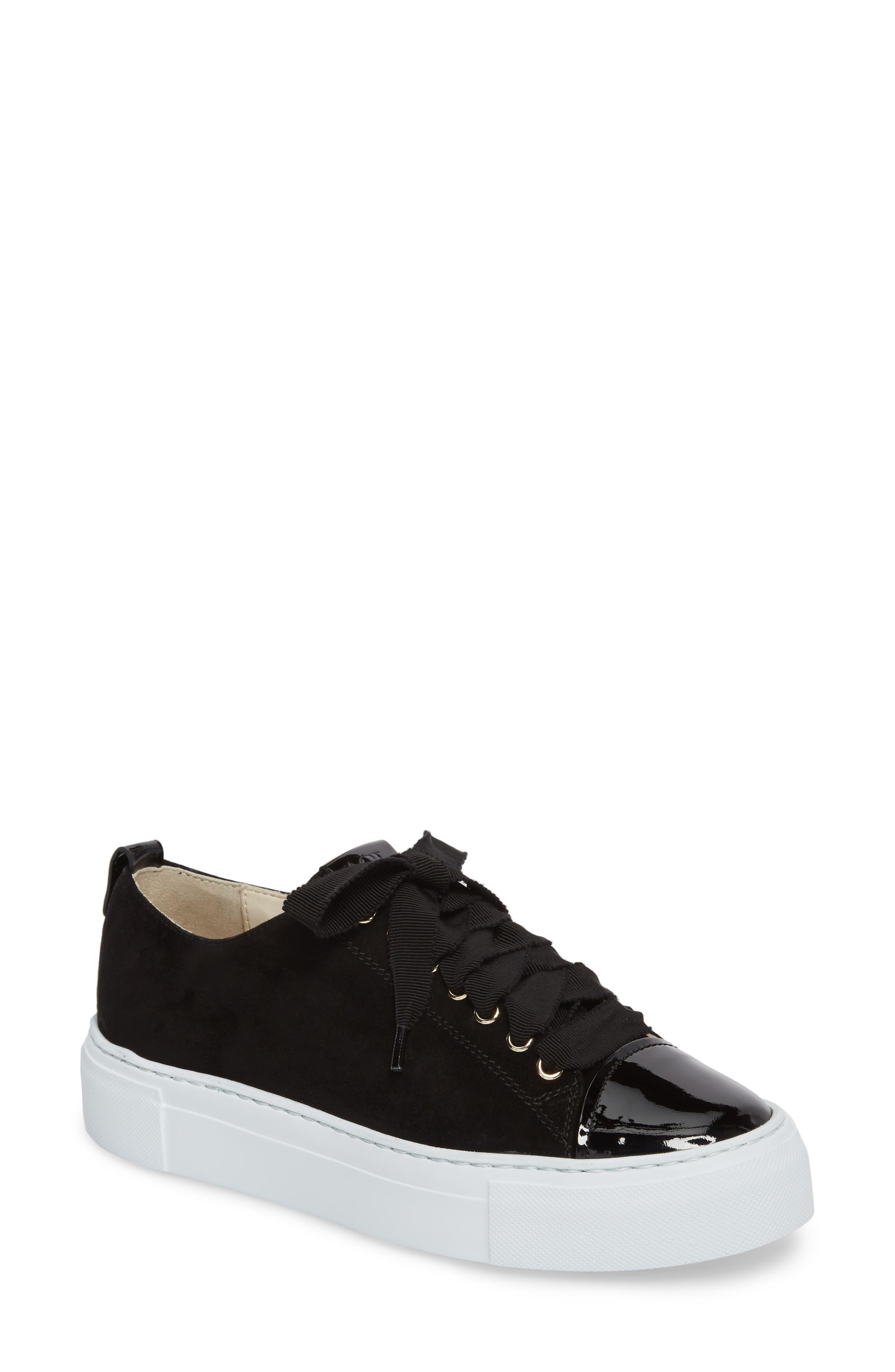 Cap Toe Platform Sneaker,                             Main thumbnail 1, color,                             001