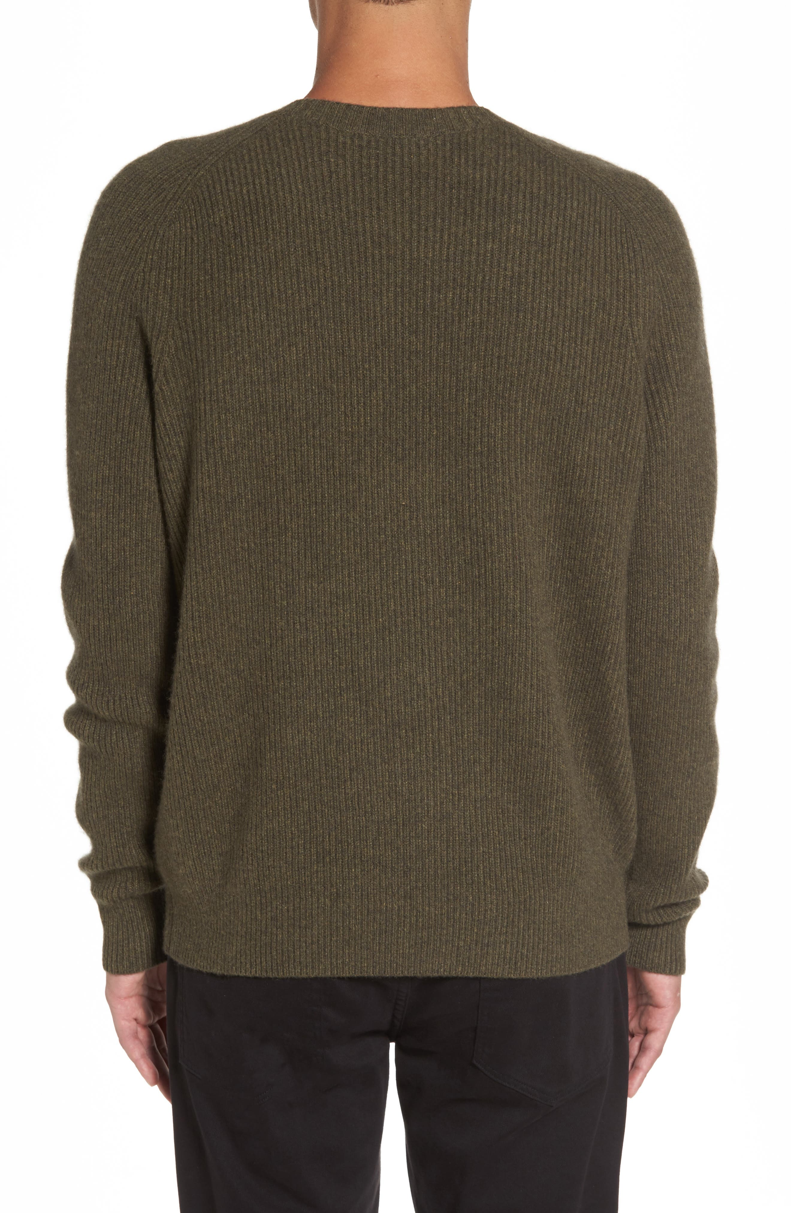 Ribbed Wool & Cashmere Raglan Sweater,                             Alternate thumbnail 6, color,