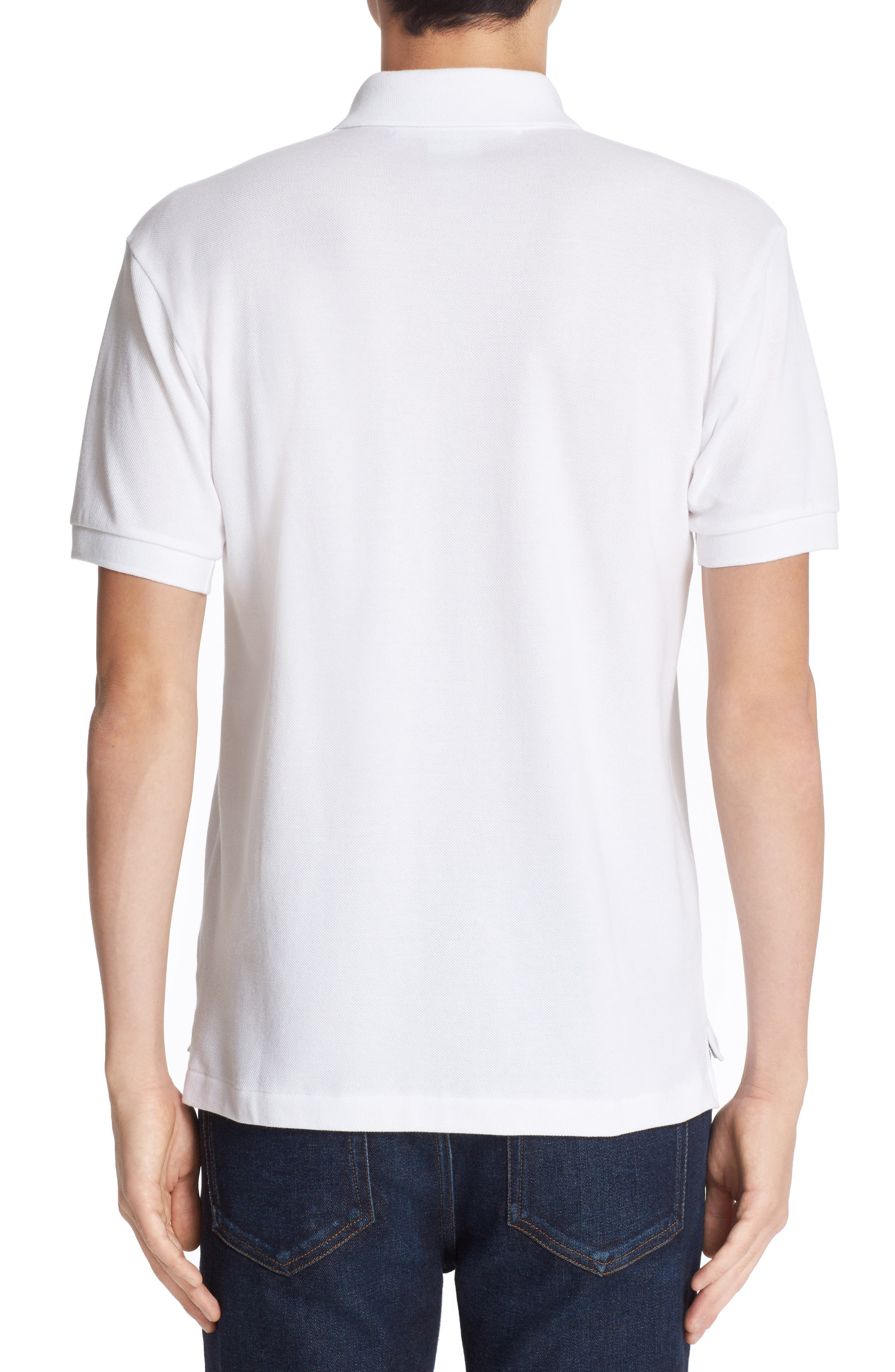 Stretch Heart Face Polo,                             Alternate thumbnail 2, color,                             WHITE