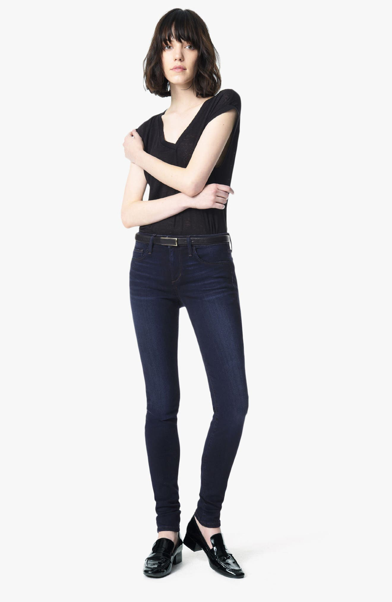 'Flawless - Twiggy' Skinny Jeans,                             Alternate thumbnail 7, color,                             400