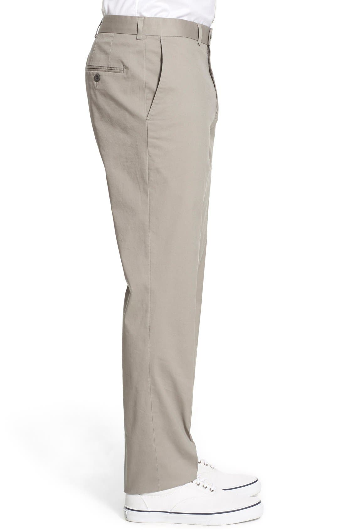 Washed Trim Fit Stretch Cotton Trousers,                             Alternate thumbnail 15, color,