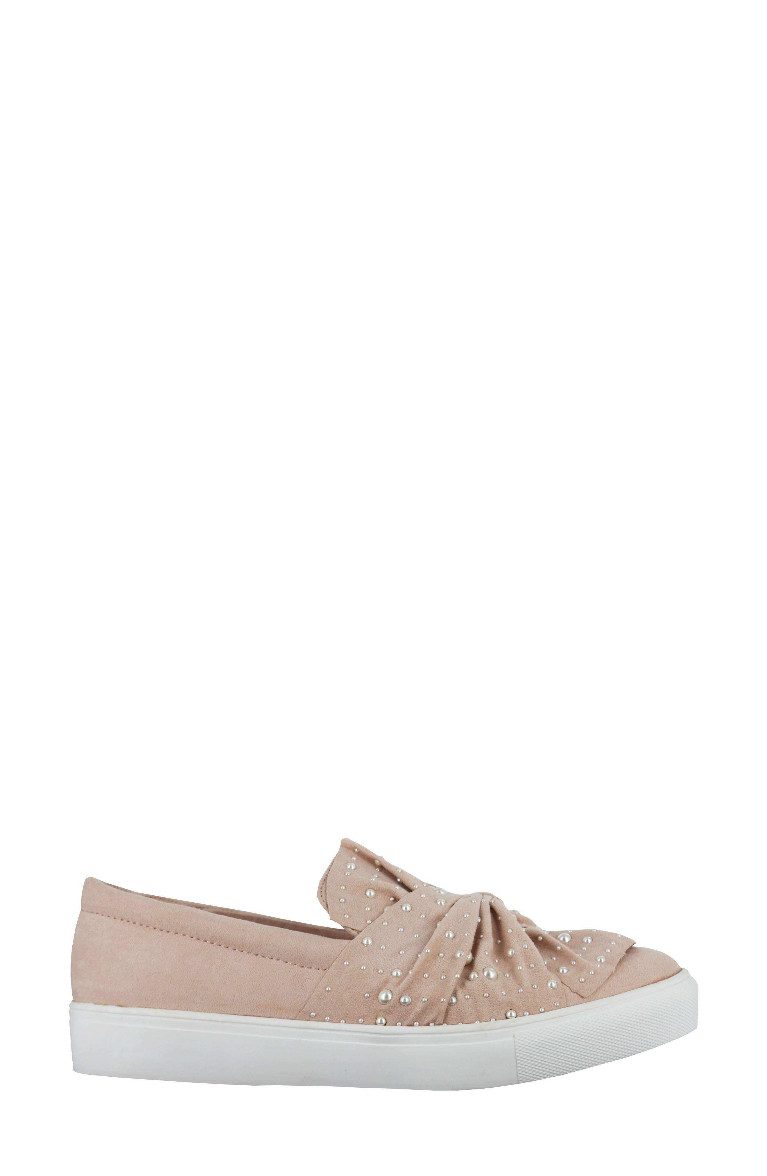 Aretha Embellished Slip-On Sneaker,                             Alternate thumbnail 4, color,