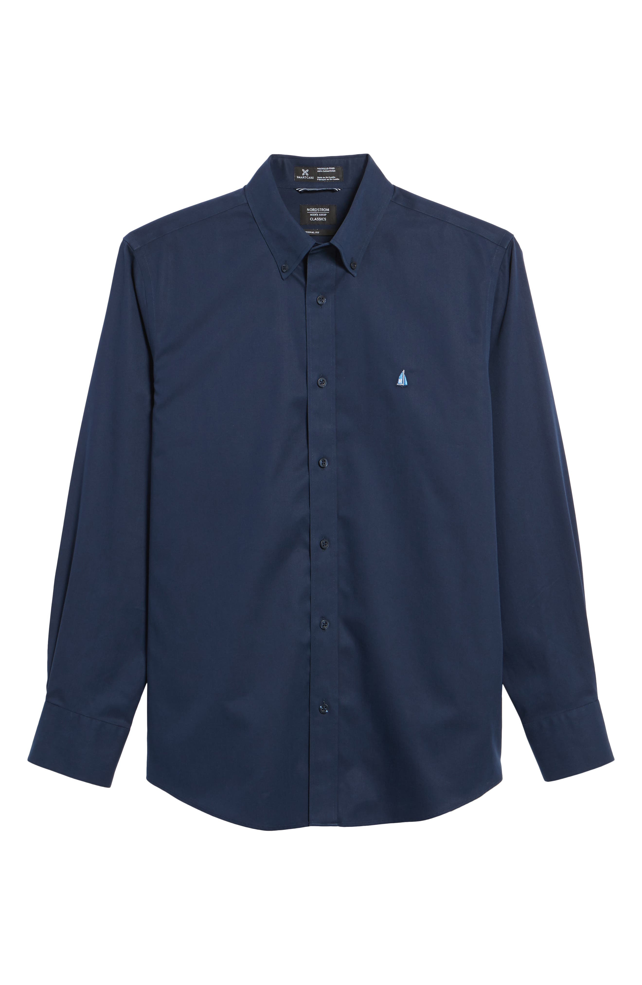 Smartcare<sup>™</sup> Traditional Fit Twill Boat Shirt,                             Alternate thumbnail 176, color,