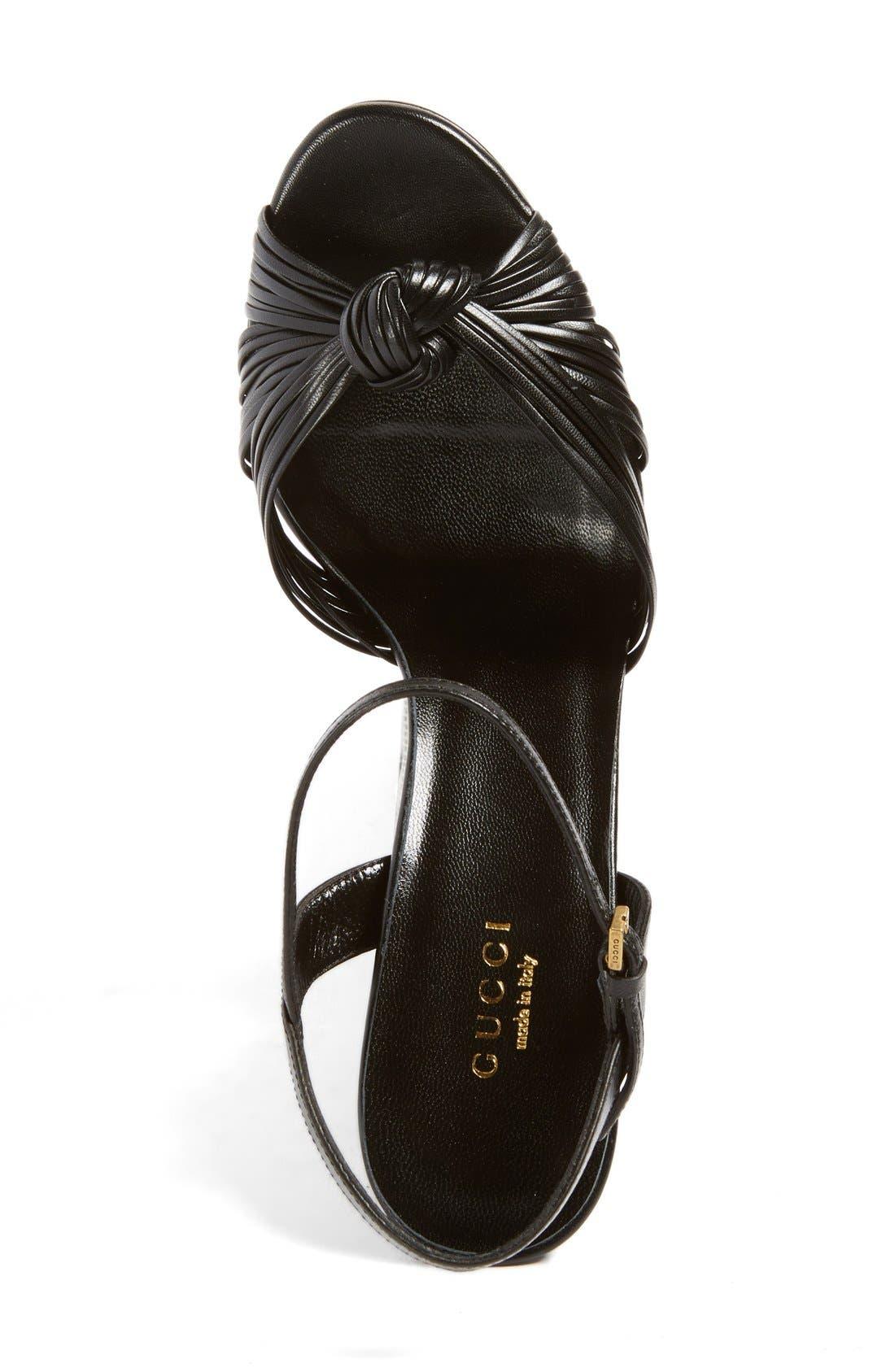 'Allie' Platform Peep Toe Sandal,                             Alternate thumbnail 6, color,