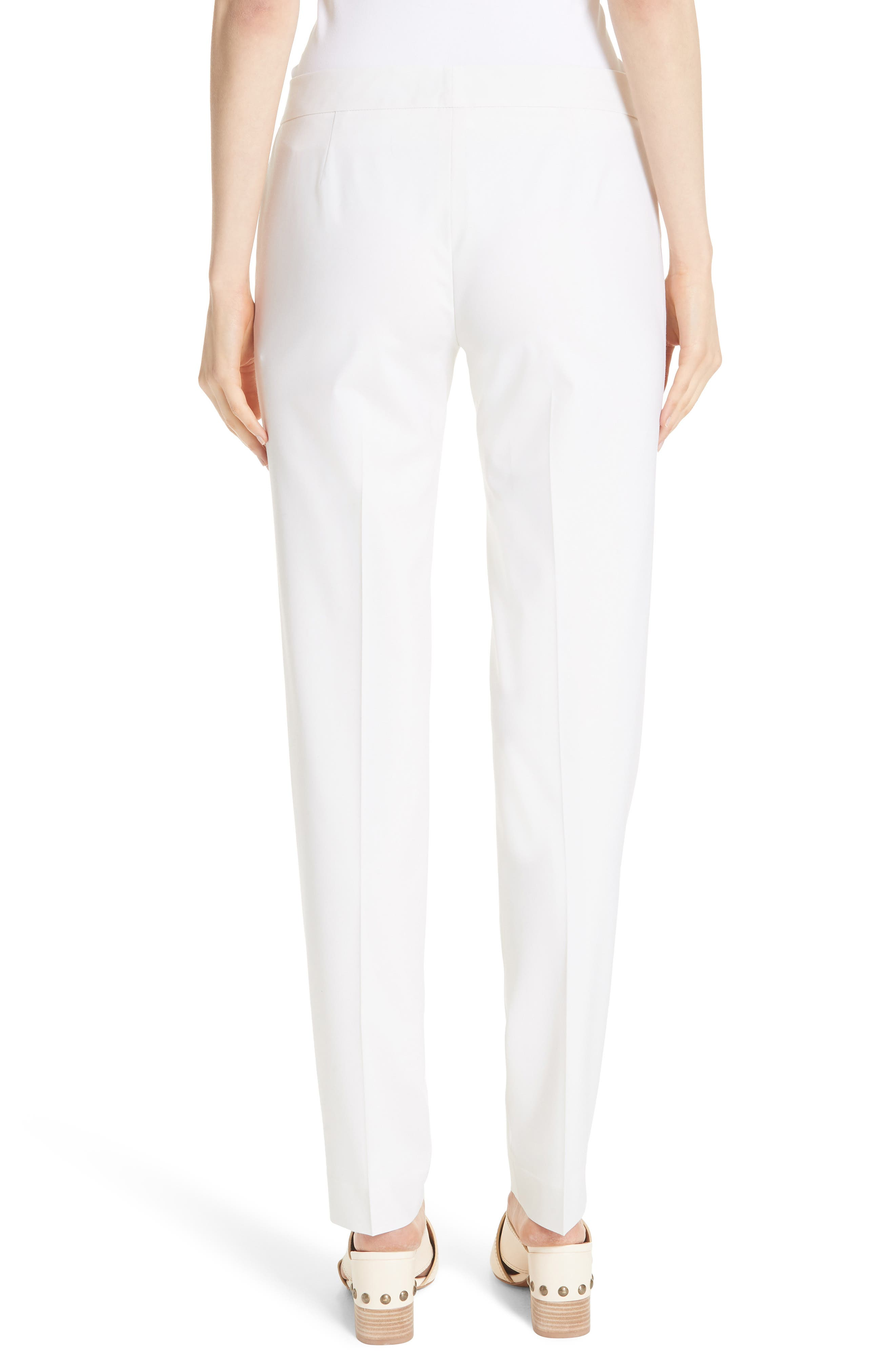 Irving Stretch Wool Pants,                             Alternate thumbnail 3, color,                             IVORY
