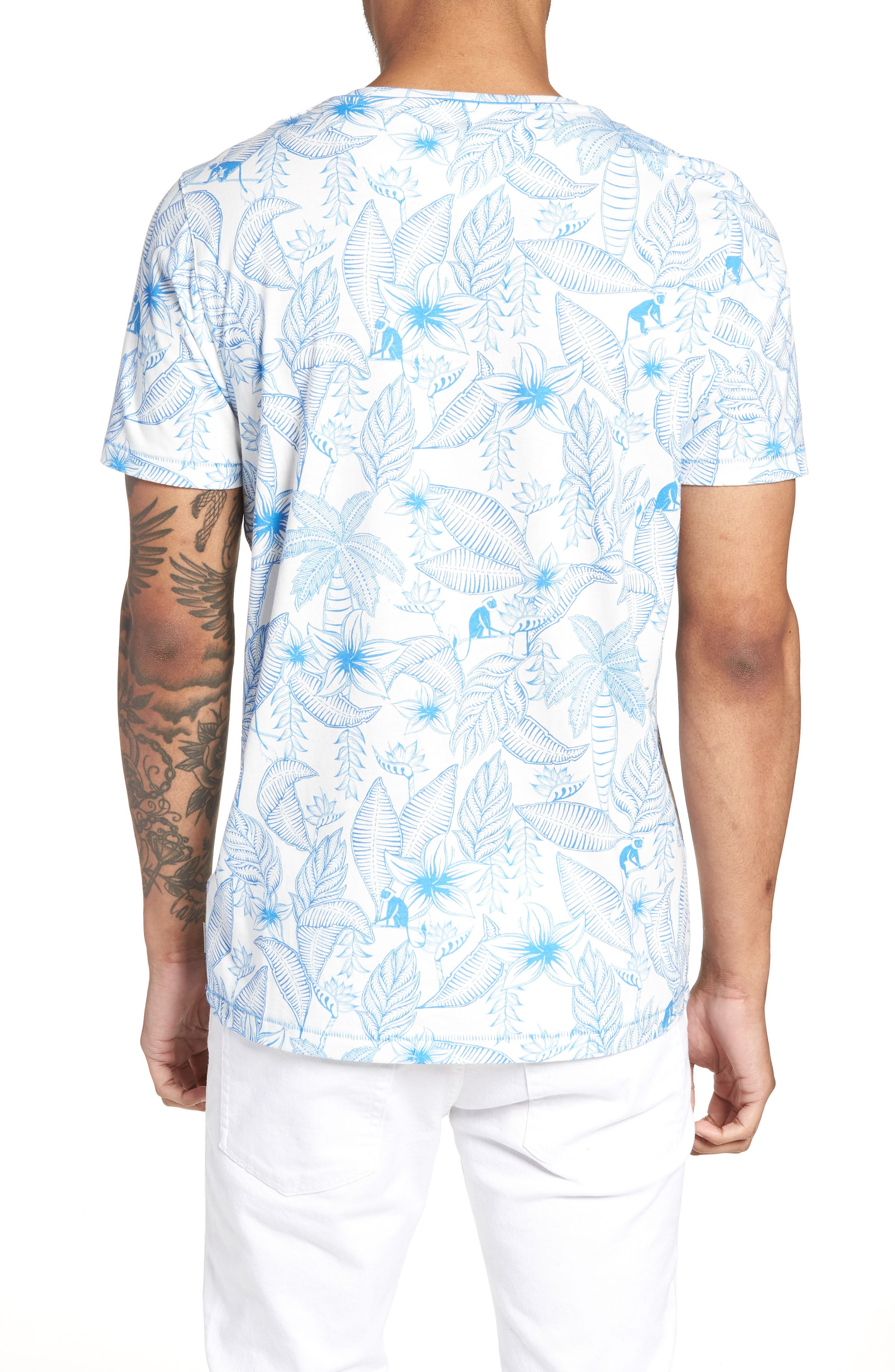 Bengel Crewneck T-Shirt,                             Alternate thumbnail 2, color,                             BRIGHT BLUE