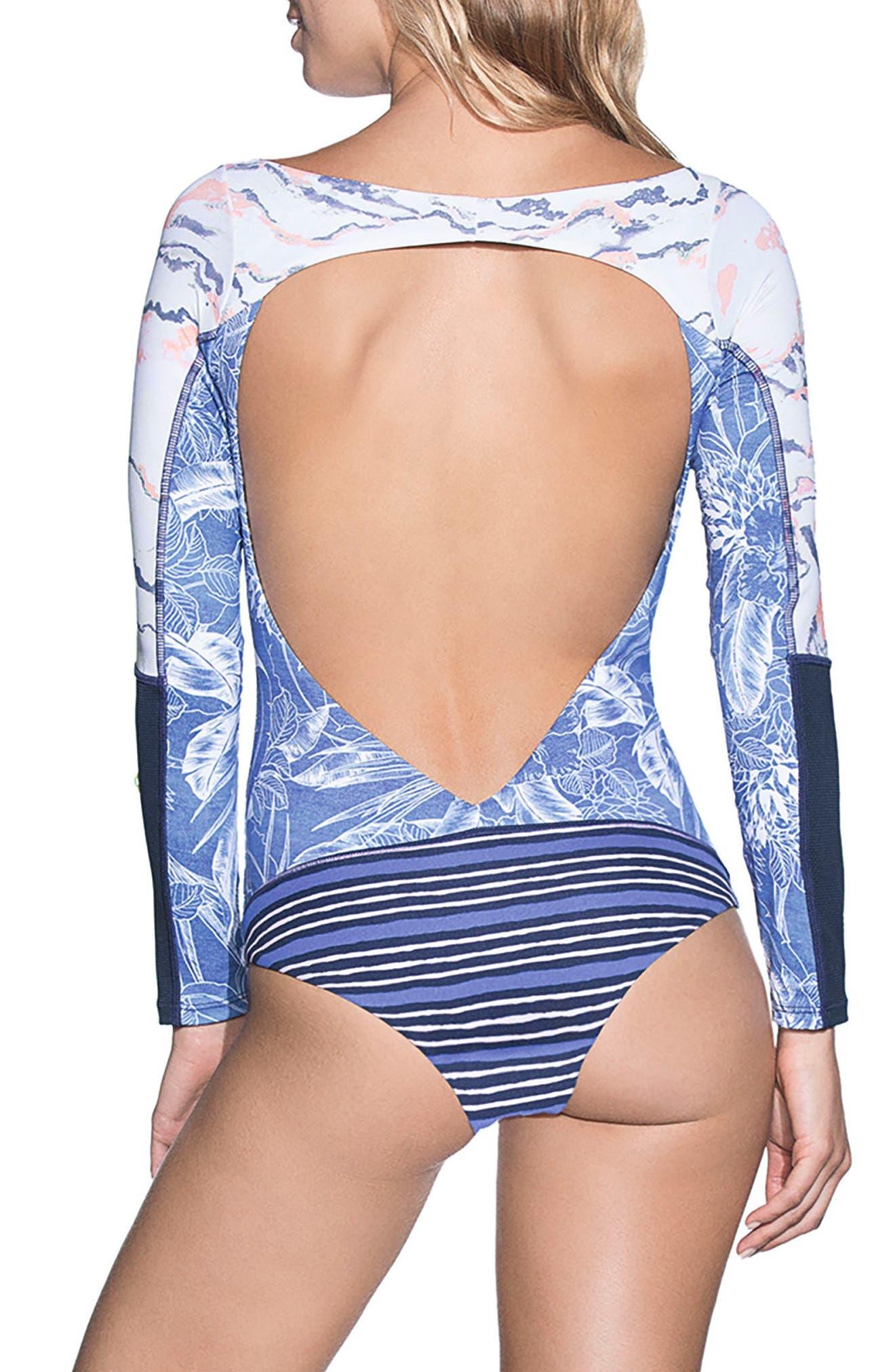 Solano Bay Reversible Rashguard One-Piece Swimsuit,                             Alternate thumbnail 2, color,                             400