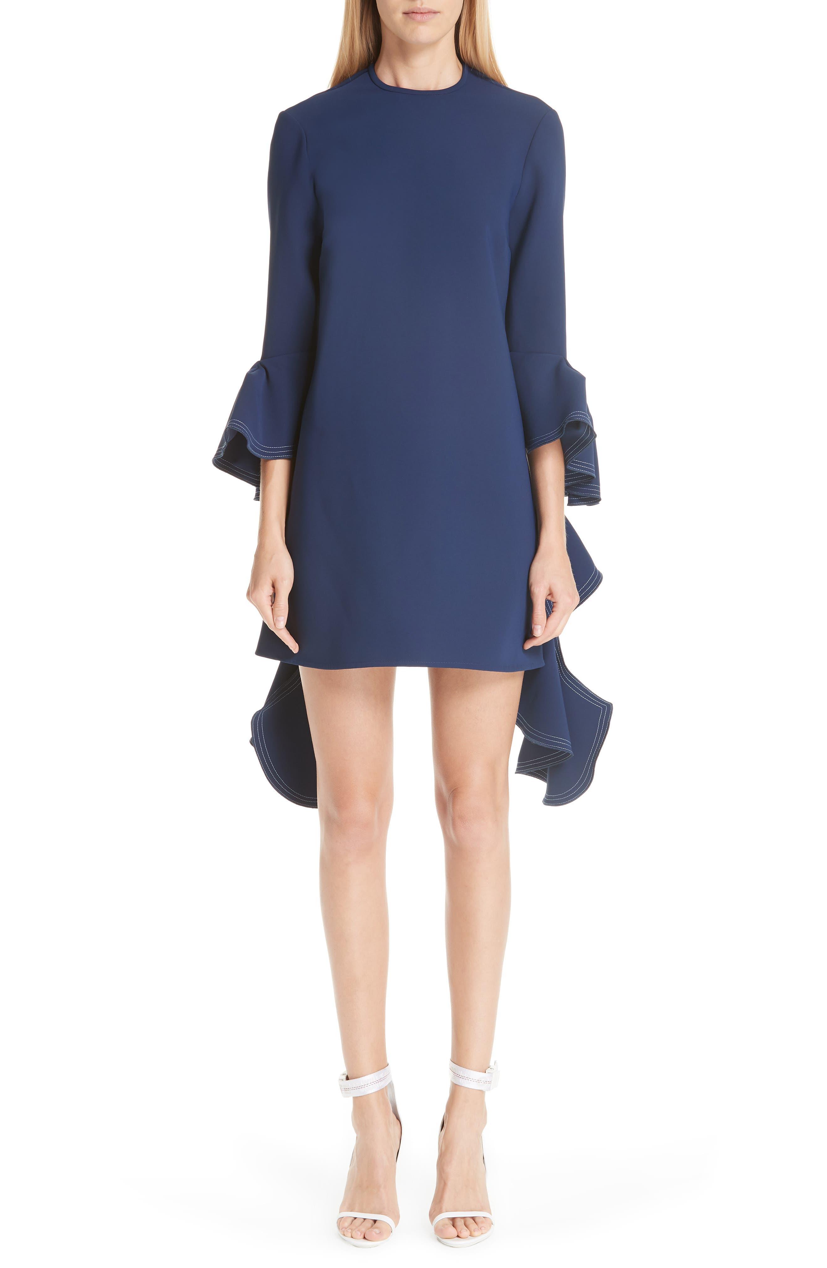 Kilkenny Frill Sleeve Minidress,                             Main thumbnail 1, color,                             400