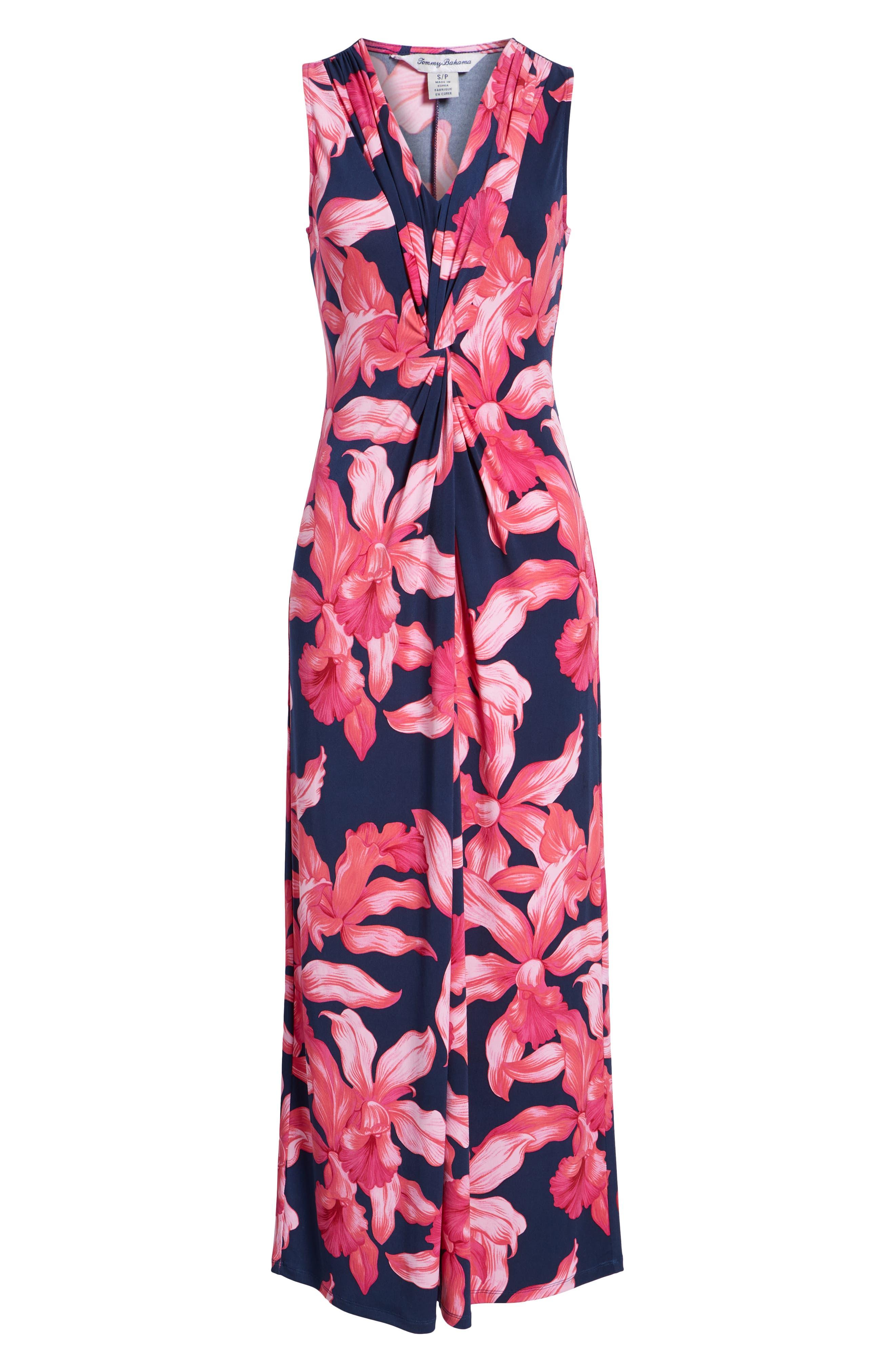 Orchid Rua Maxi Dress,                             Alternate thumbnail 7, color,                             ISLAND NAVY