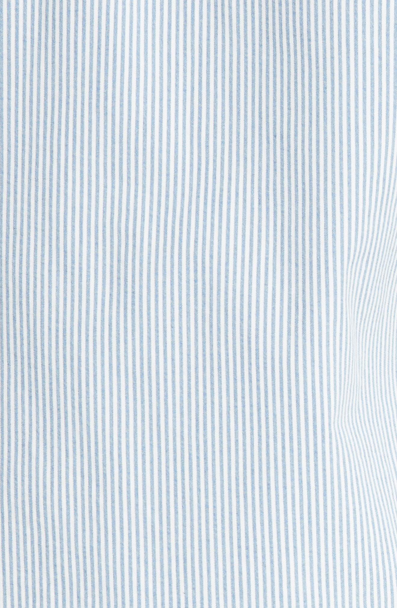 Riga Microstripe Denim Sport Shirt,                             Alternate thumbnail 4, color,                             461