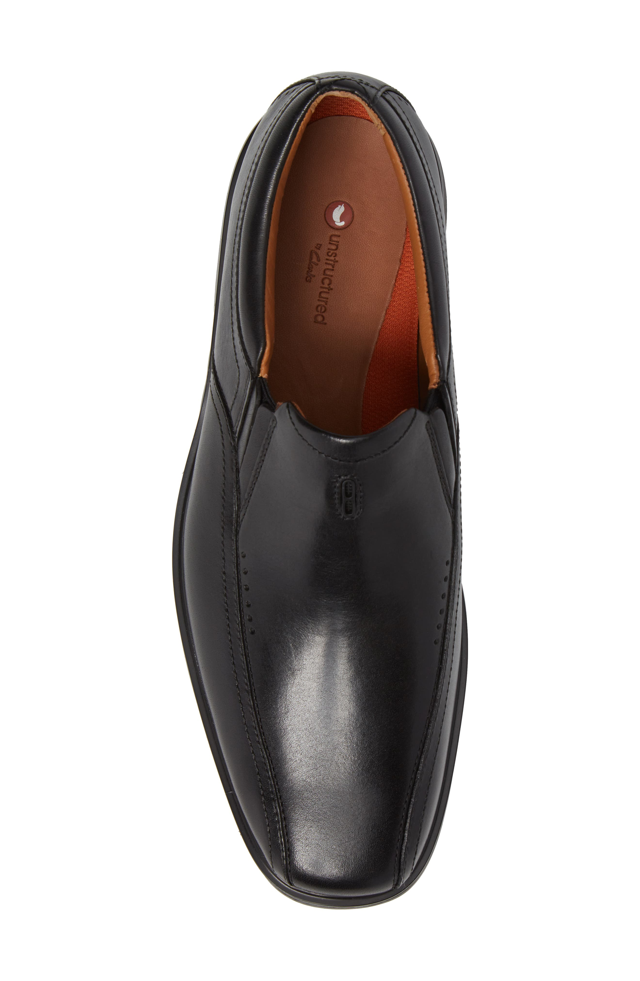 Un.Sheridan Go Loafer,                             Alternate thumbnail 5, color,                             BLACK LEATHER