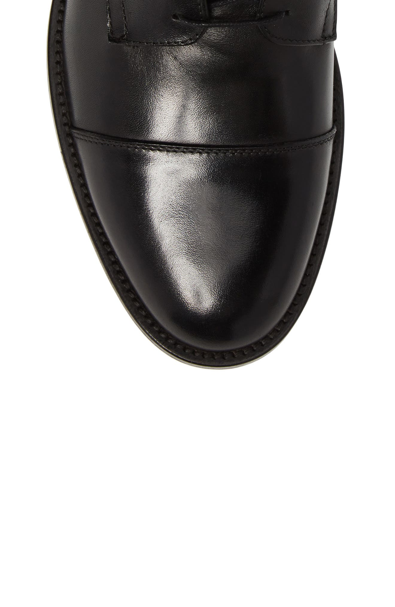 Henri Cap Toe Boot,                             Alternate thumbnail 5, color,                             BLACK