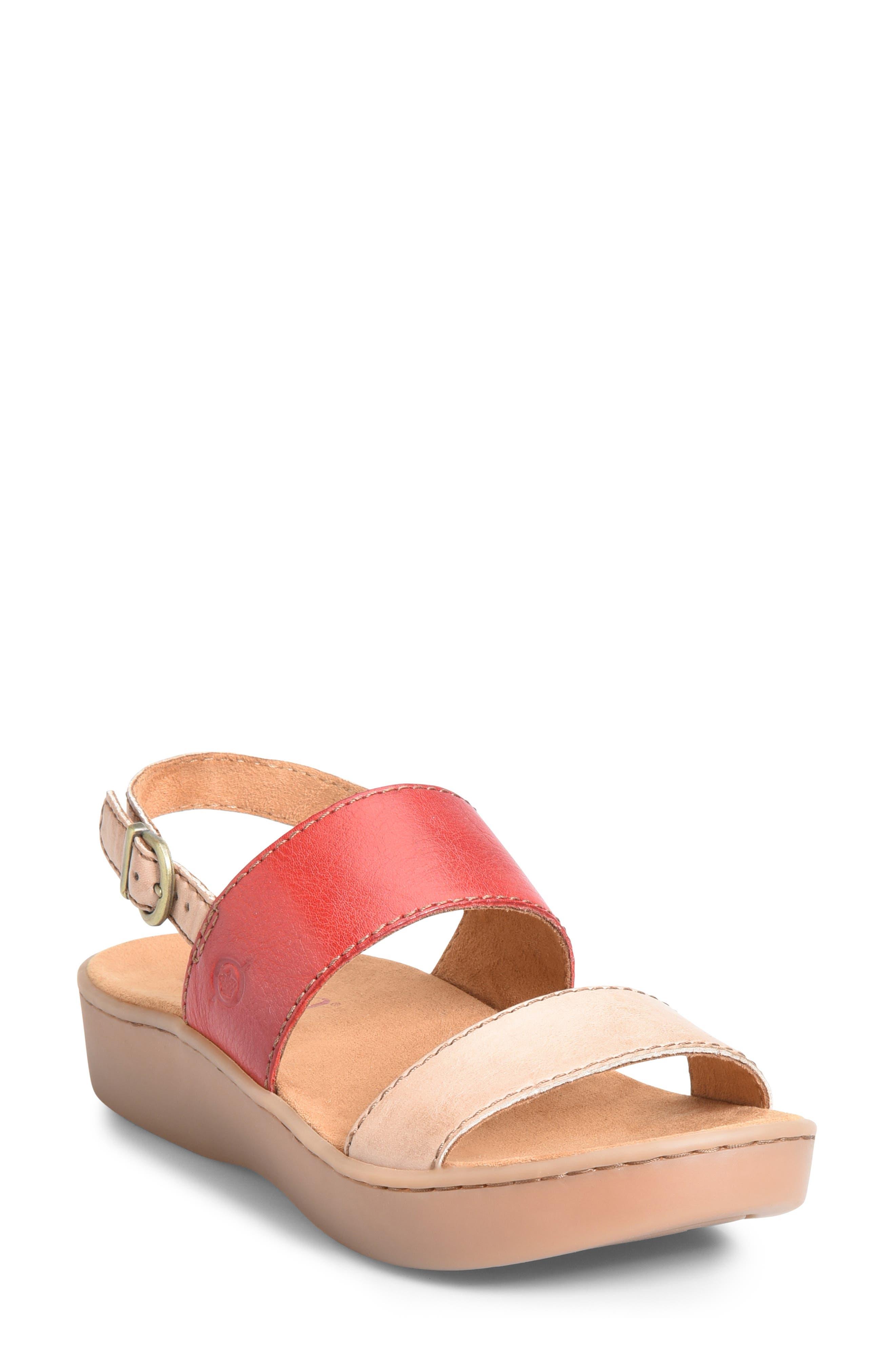 B?rn Oconee Platform Sandal, Red