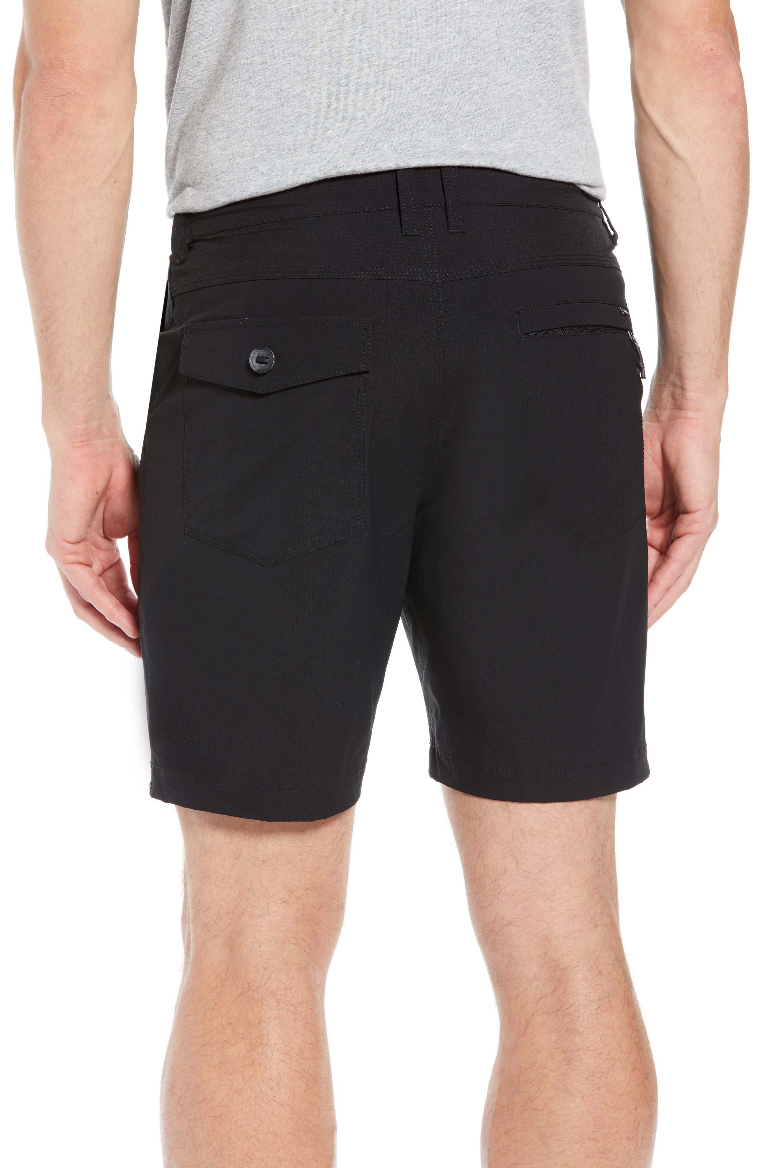 Surfreak Hybrid Shorts,                             Alternate thumbnail 2, color,                             BLACK