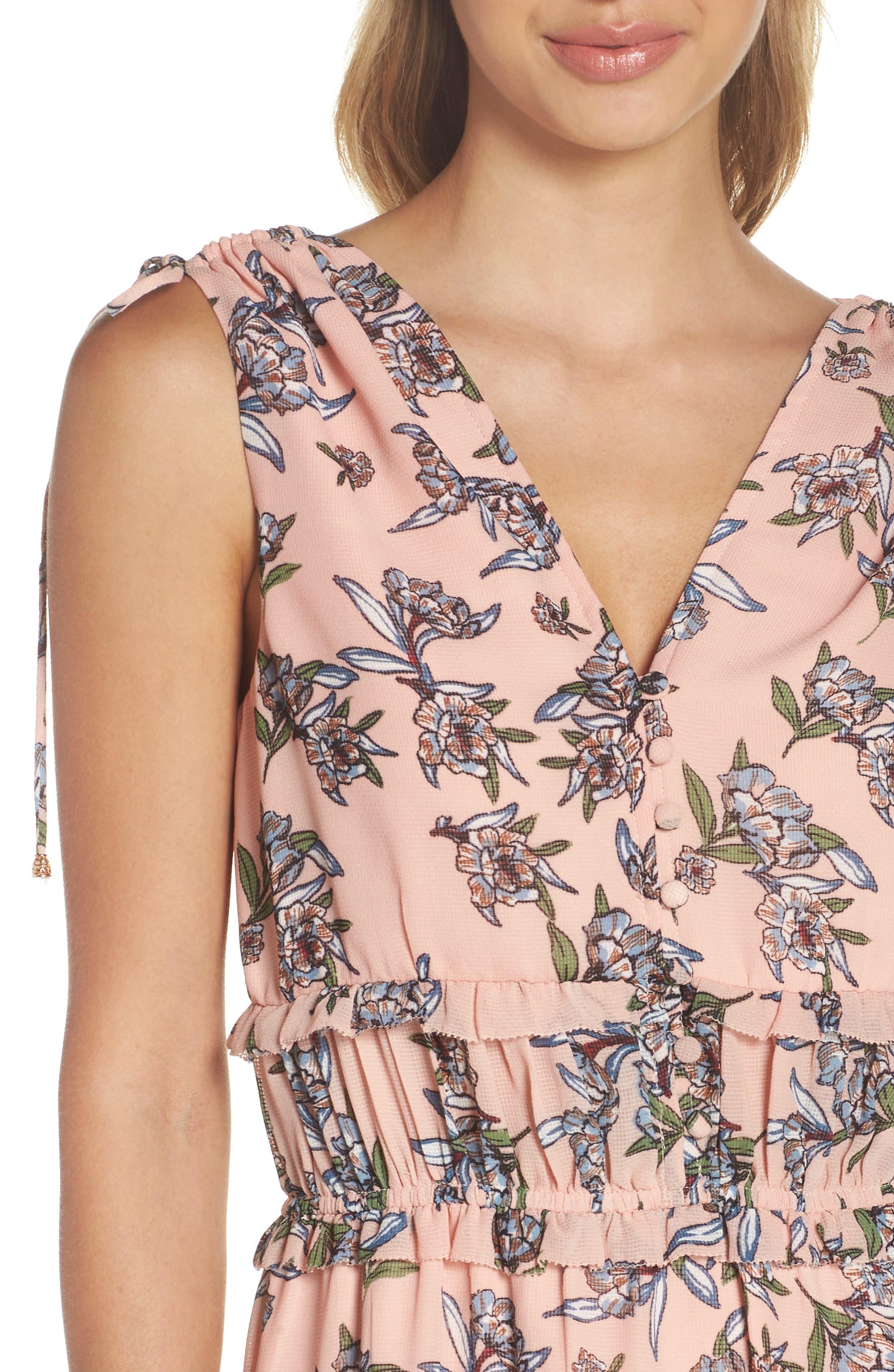 Jax Floral Dress,                             Alternate thumbnail 4, color,