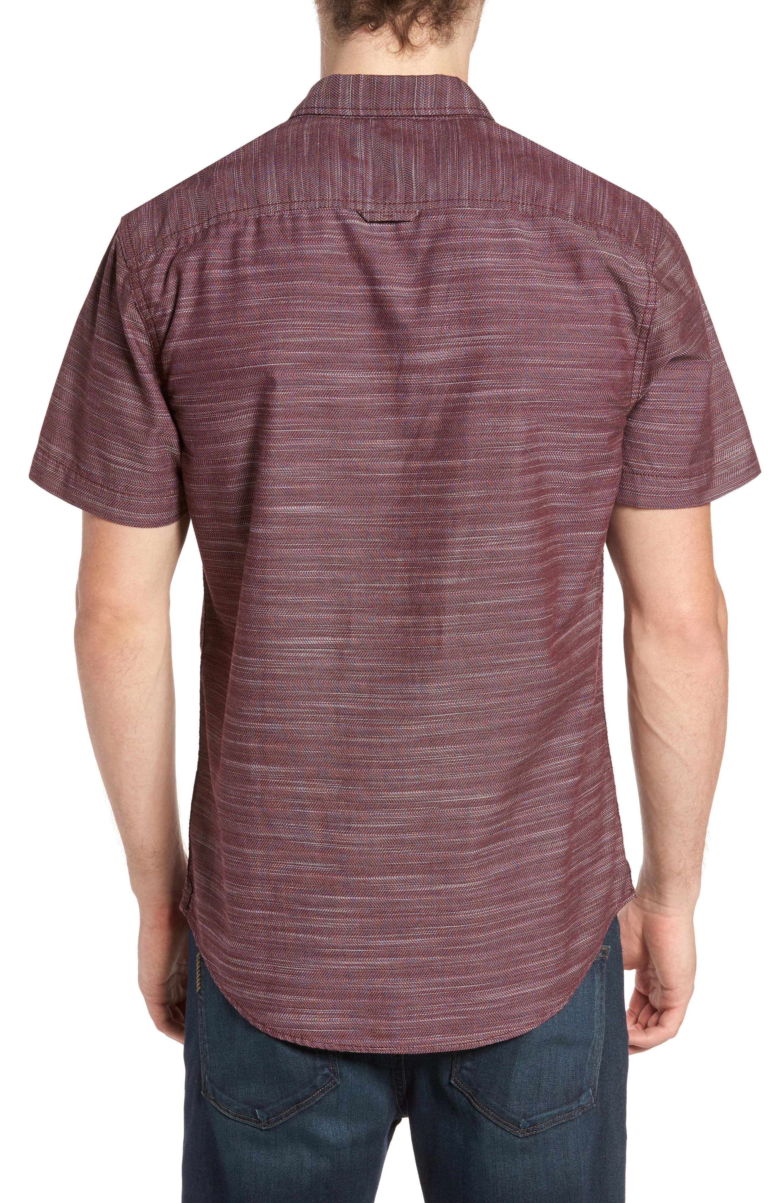 Herringbone Chambray Shirt,                             Alternate thumbnail 6, color,