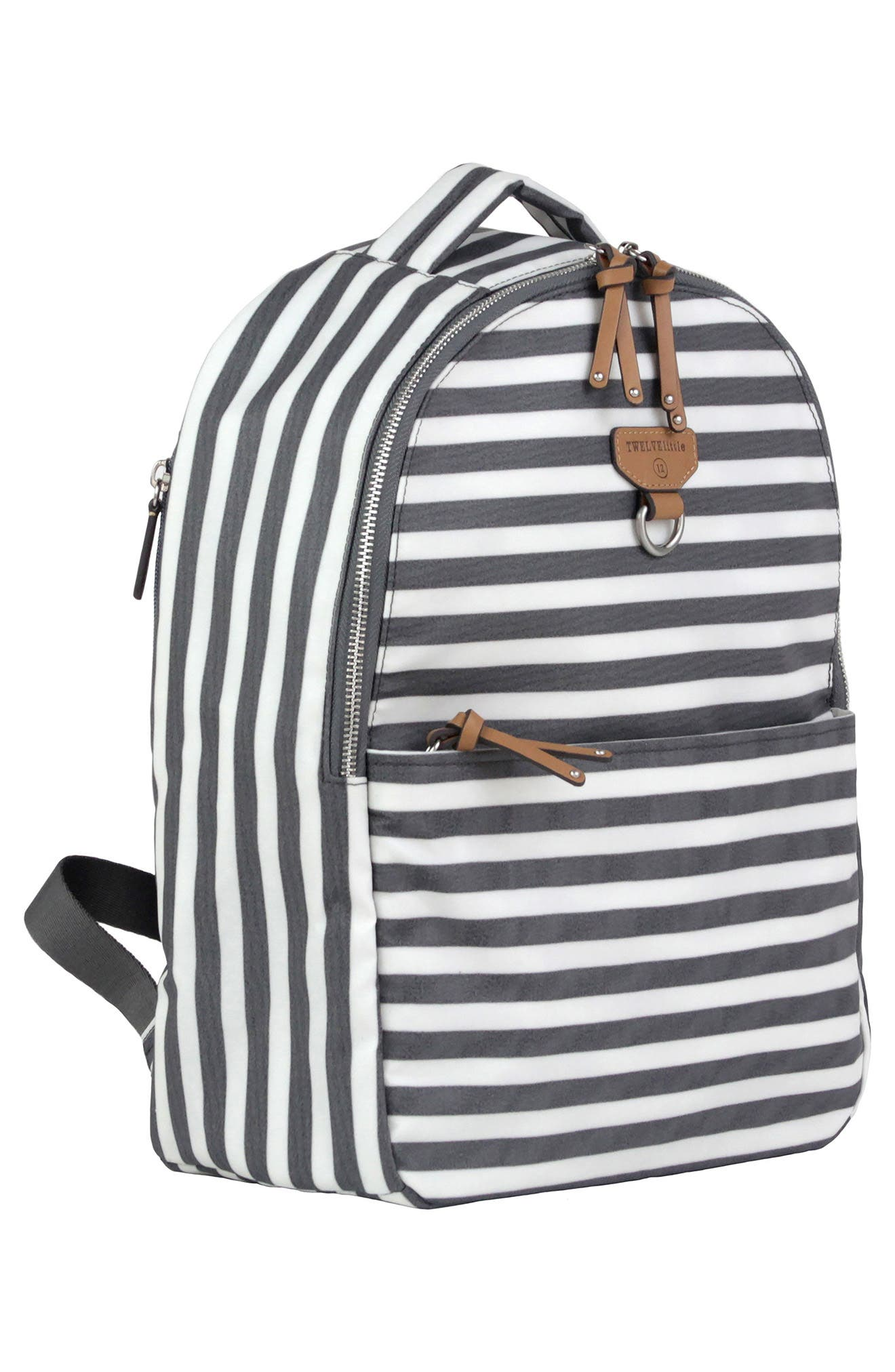 Mini-Go Water Resistant Diaper Backpack,                             Alternate thumbnail 4, color,                             STRIPE