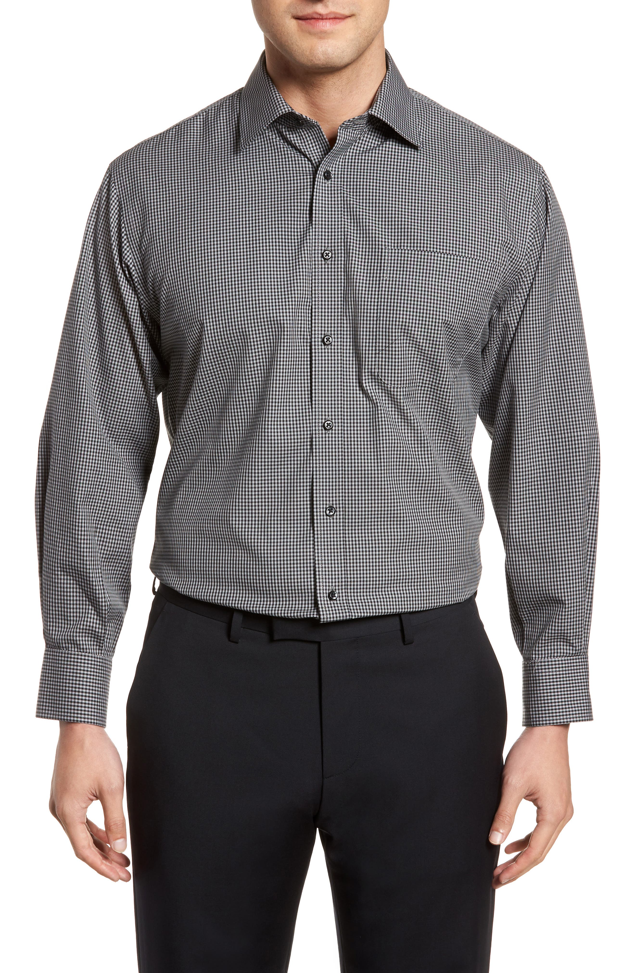 Smartcare Classic Fit Check Dress Shirt,                             Main thumbnail 1, color,