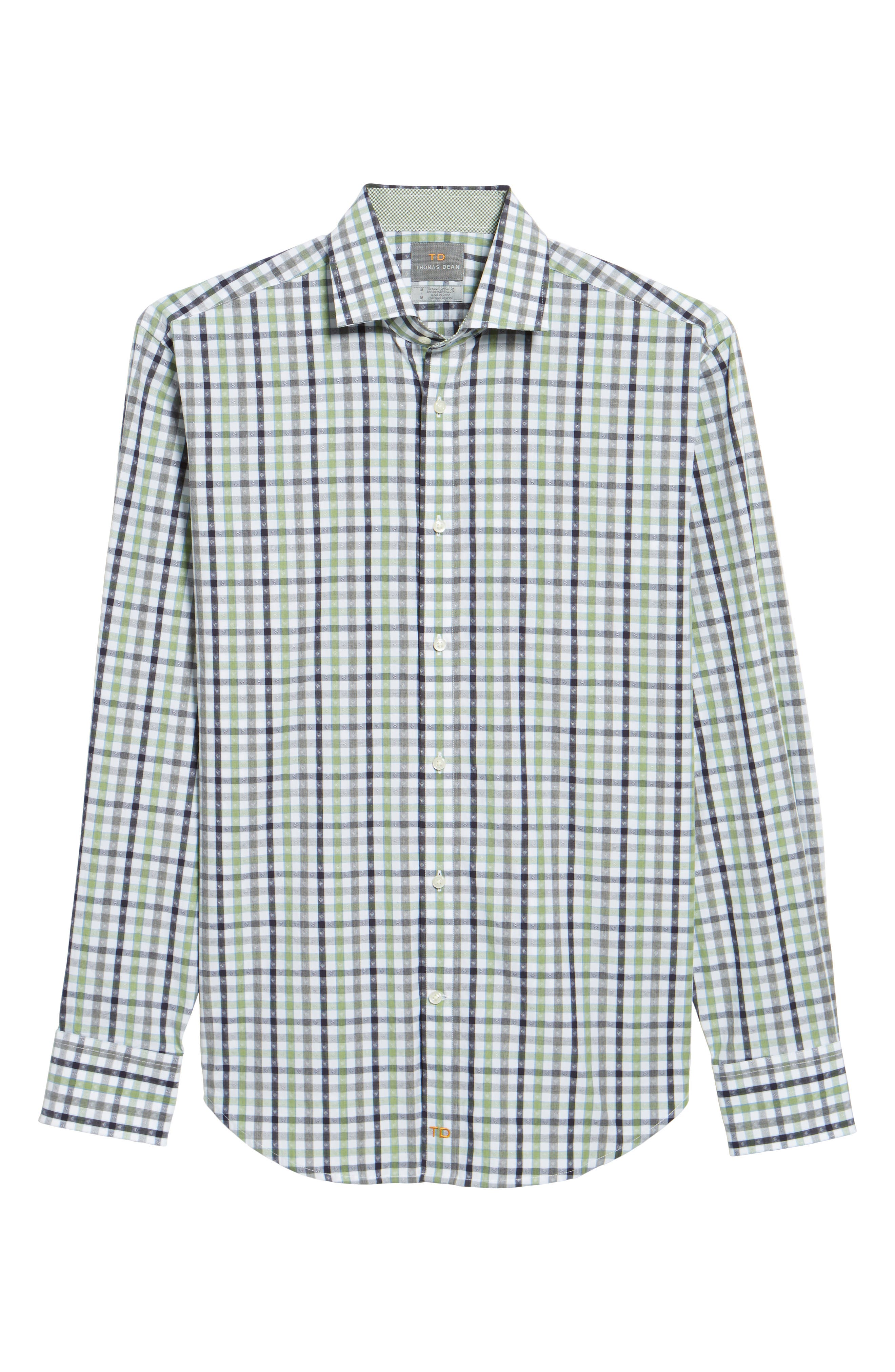 Plaid Sport Shirt,                             Alternate thumbnail 6, color,                             300
