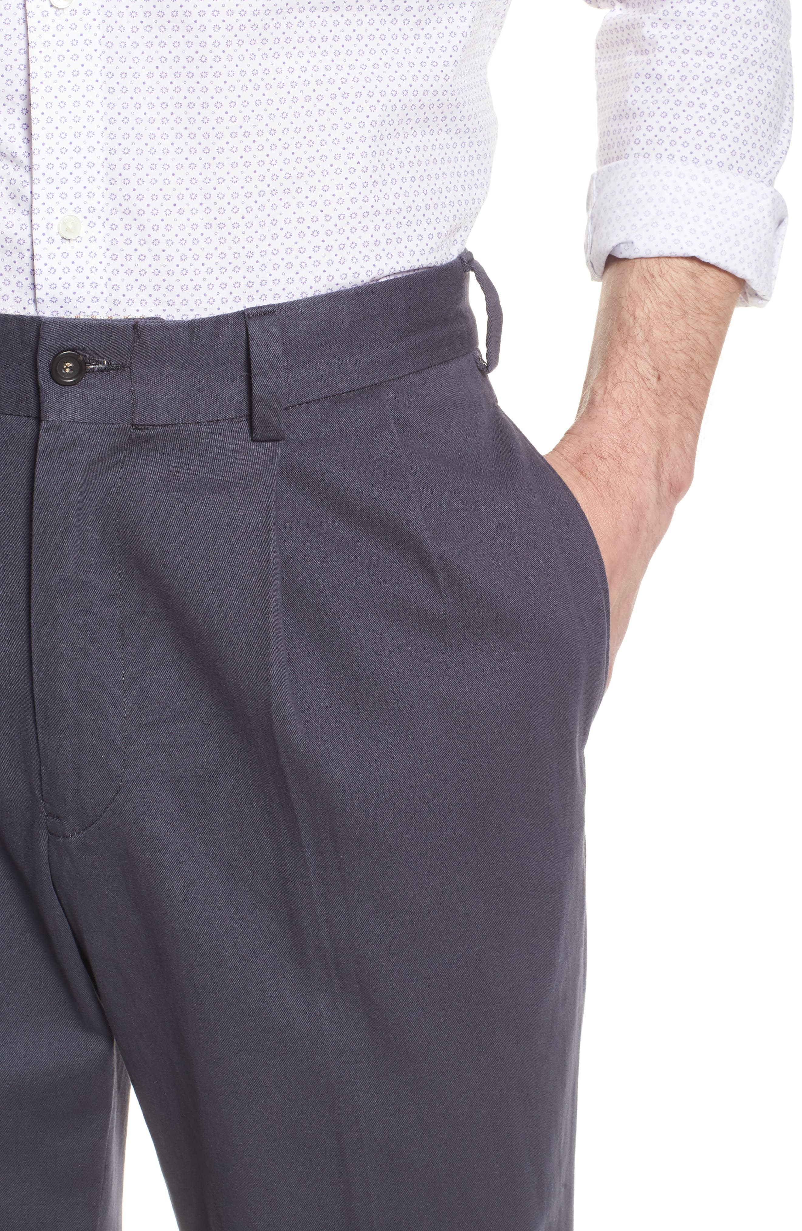 M2 Classic Fit Vintage Twill Pleated Pants,                             Alternate thumbnail 4, color,                             410
