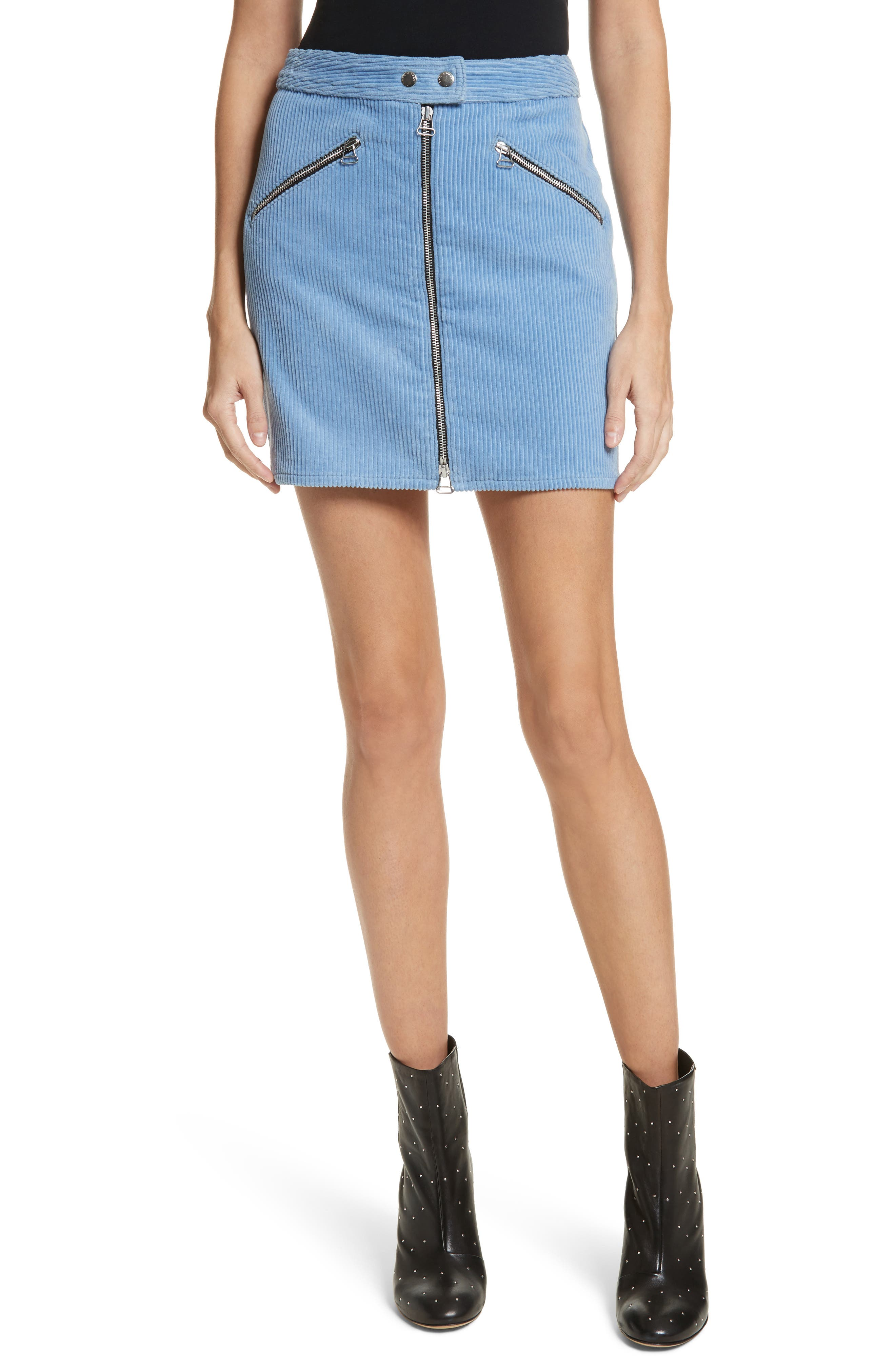 Racer Corduroy Miniskirt,                         Main,                         color,