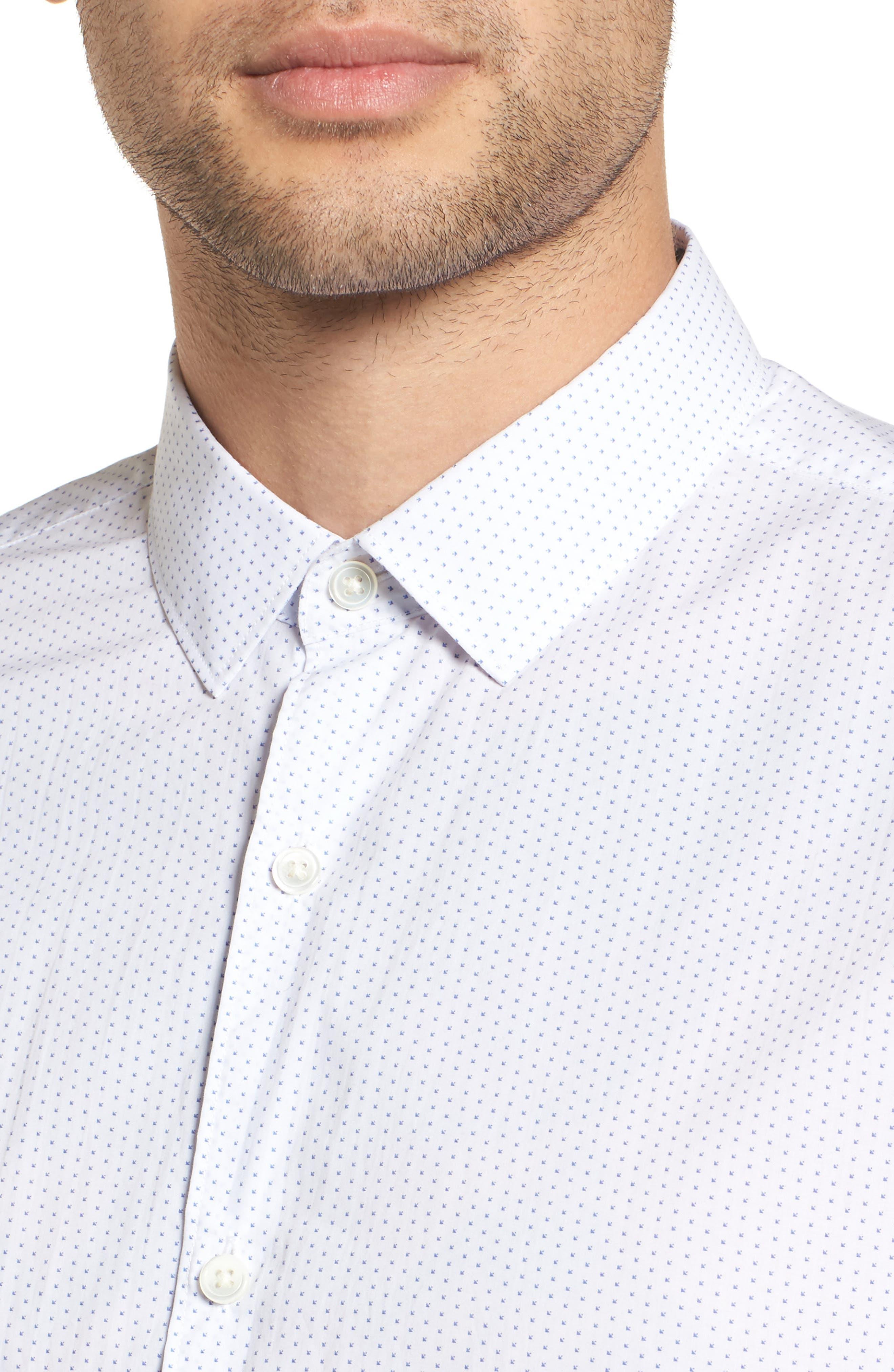 Murray Slim Fit Sport Shirt,                             Alternate thumbnail 4, color,                             100
