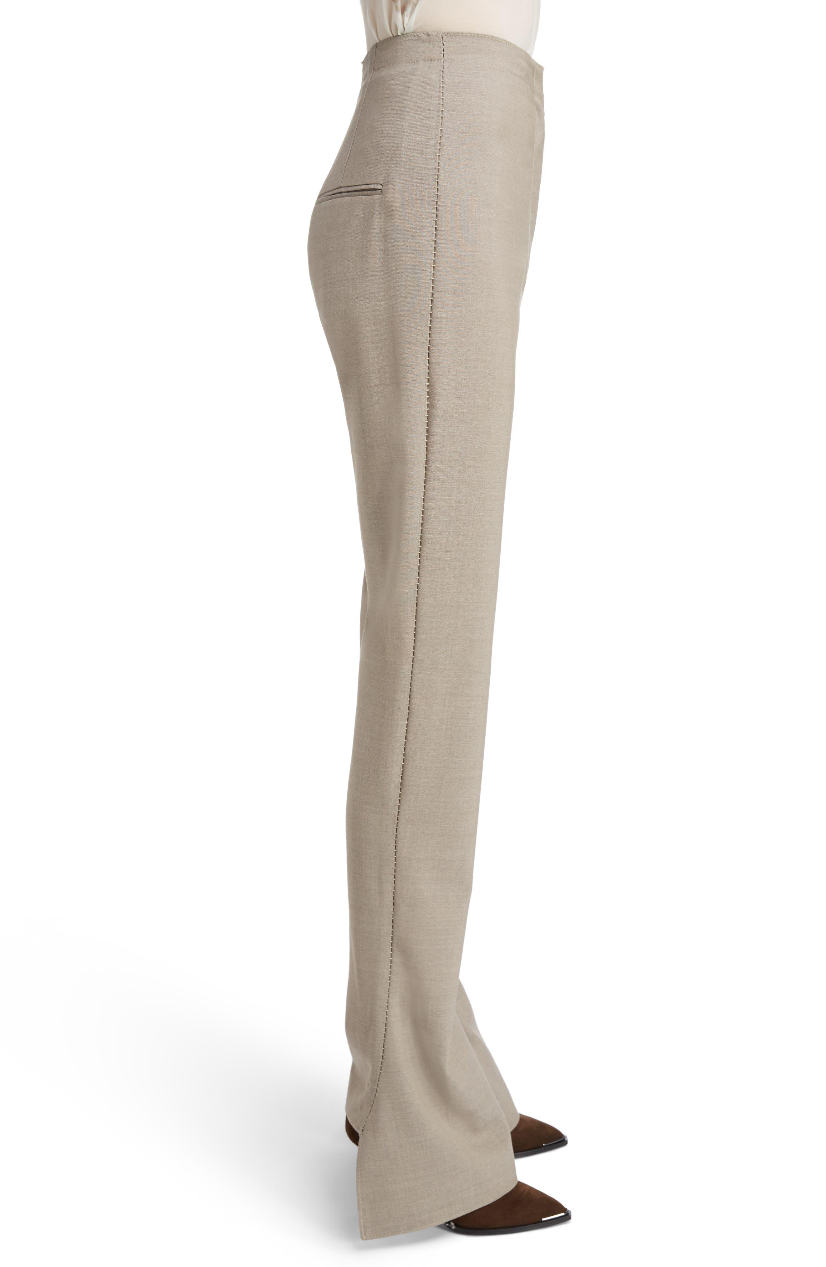Toni Fluid Wide Leg Wool Pants,                             Alternate thumbnail 3, color,                             250