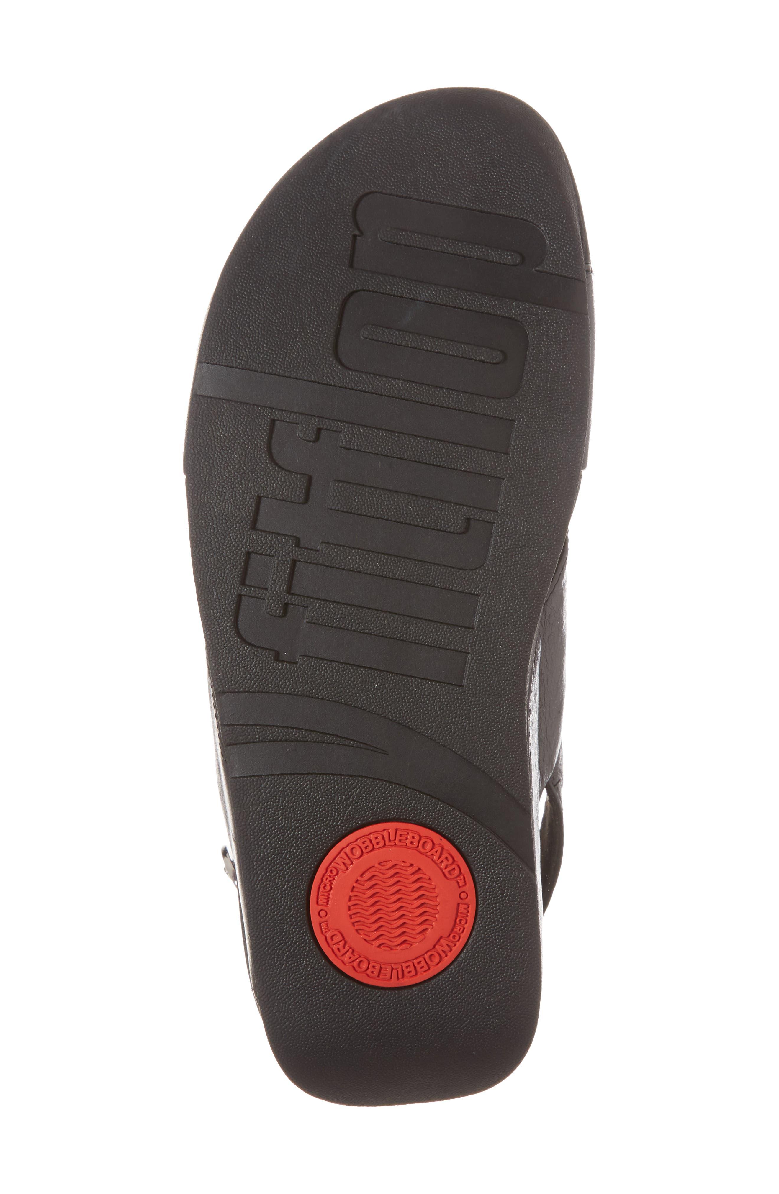 Lulu Crisscross Sandal,                             Alternate thumbnail 6, color,                             BLACK