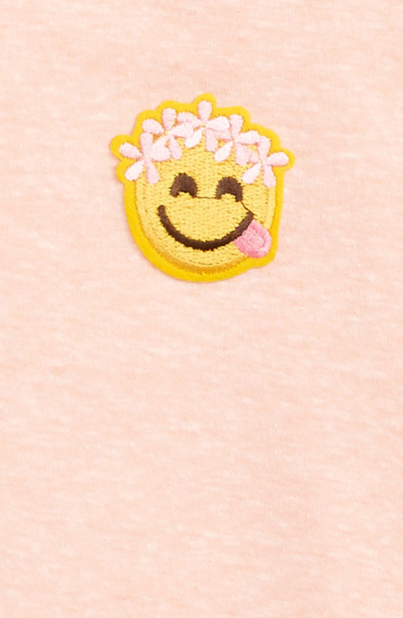 Smiley Face Appliqué Tee,                             Alternate thumbnail 2, color,                             950