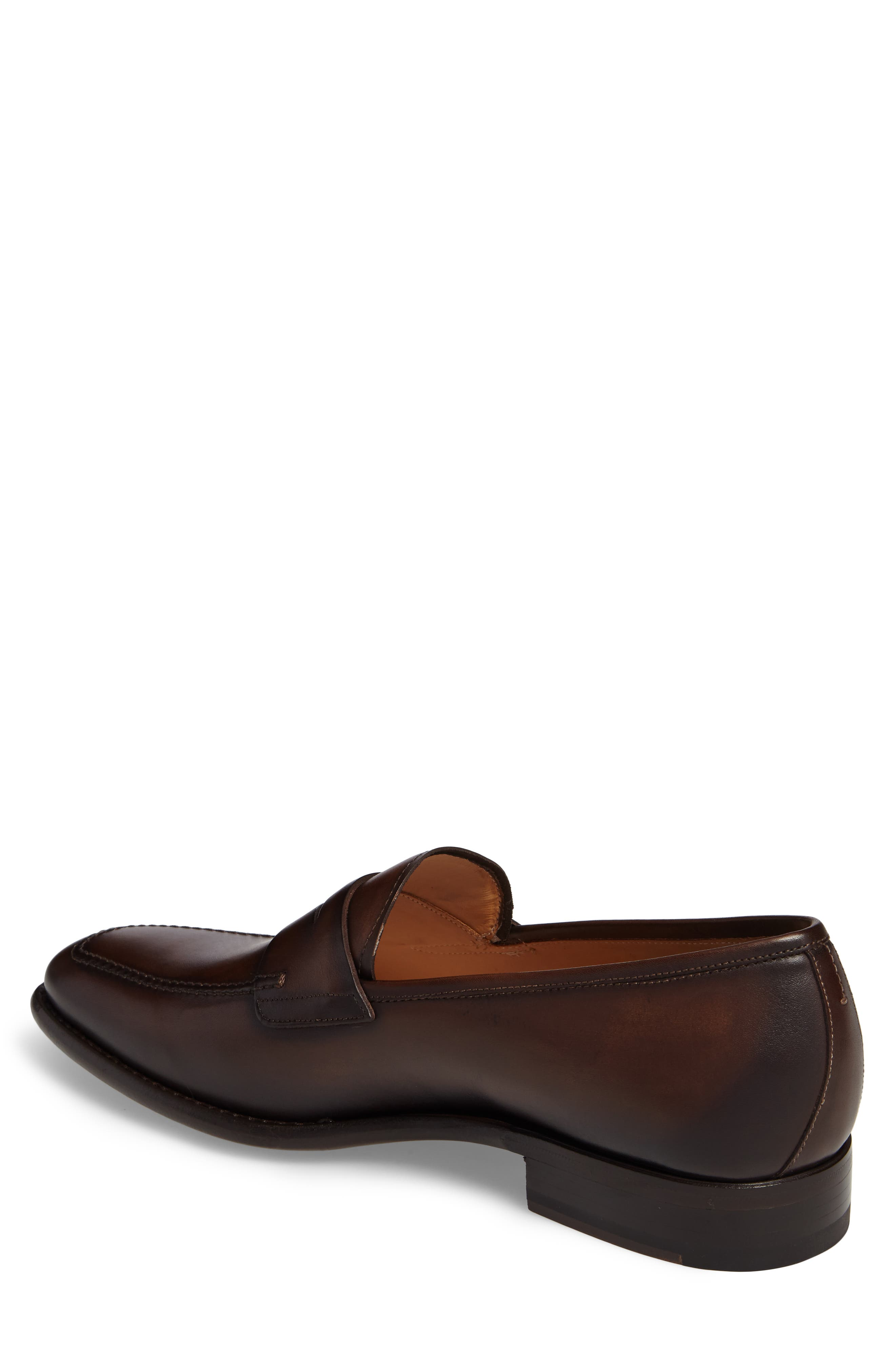 Claude Penny Loafer,                             Alternate thumbnail 2, color,                             BROWN LEATHER