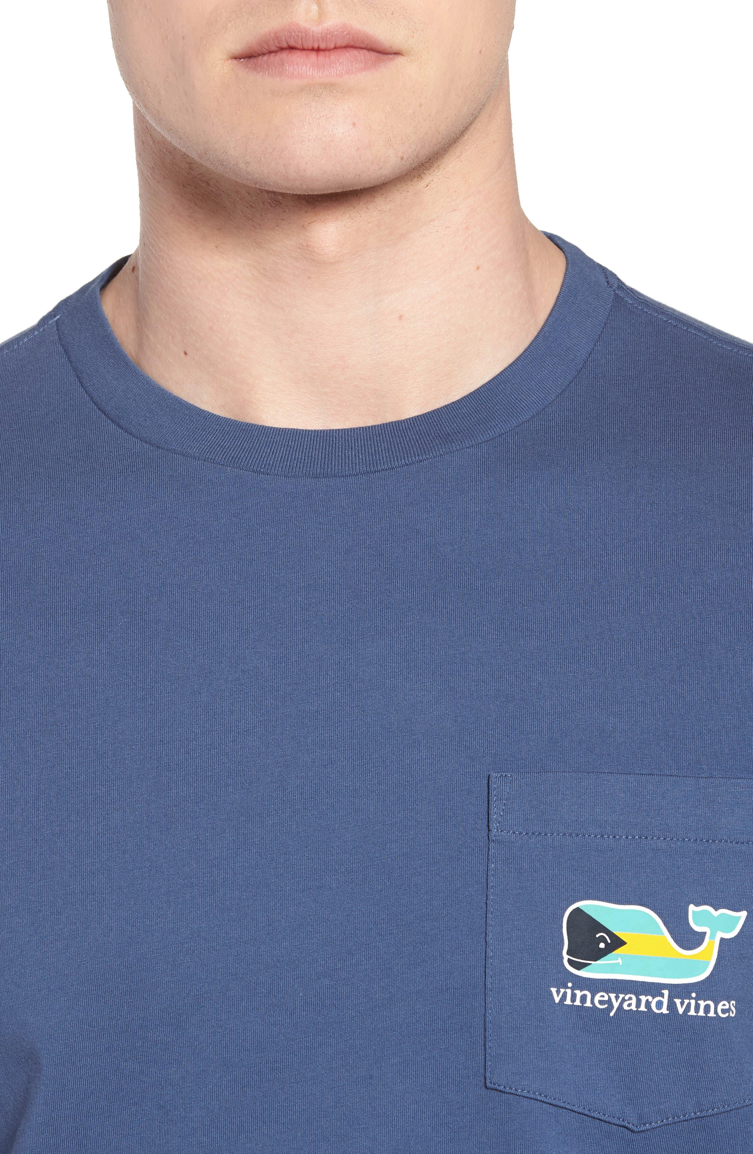 Bahamas Whale Crewneck Cotton T-Shirt,                             Alternate thumbnail 4, color,                             461