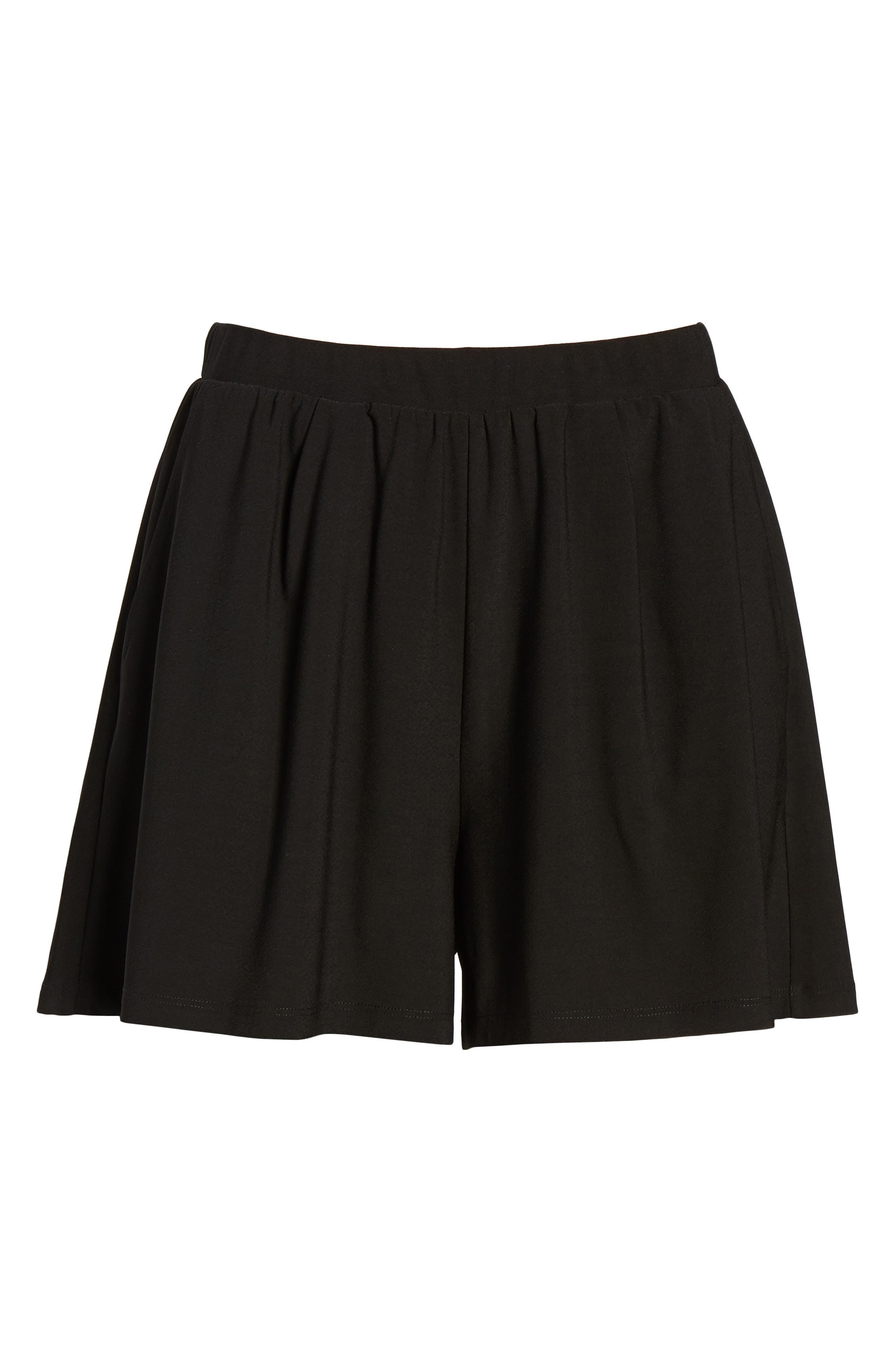 Pleat Front Shorts,                             Alternate thumbnail 6, color,                             001