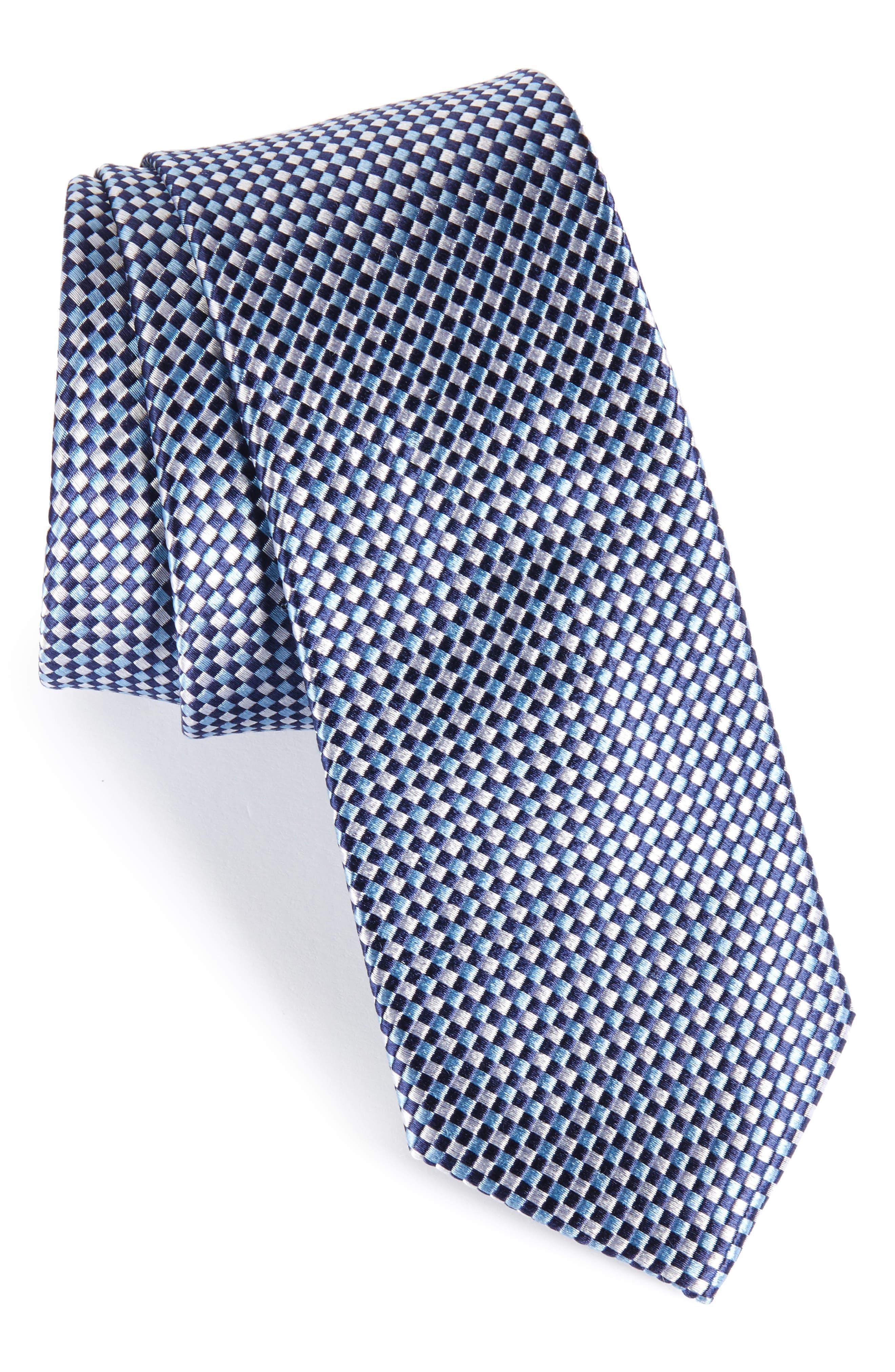 Solid Silk Skinny Tie,                             Main thumbnail 2, color,