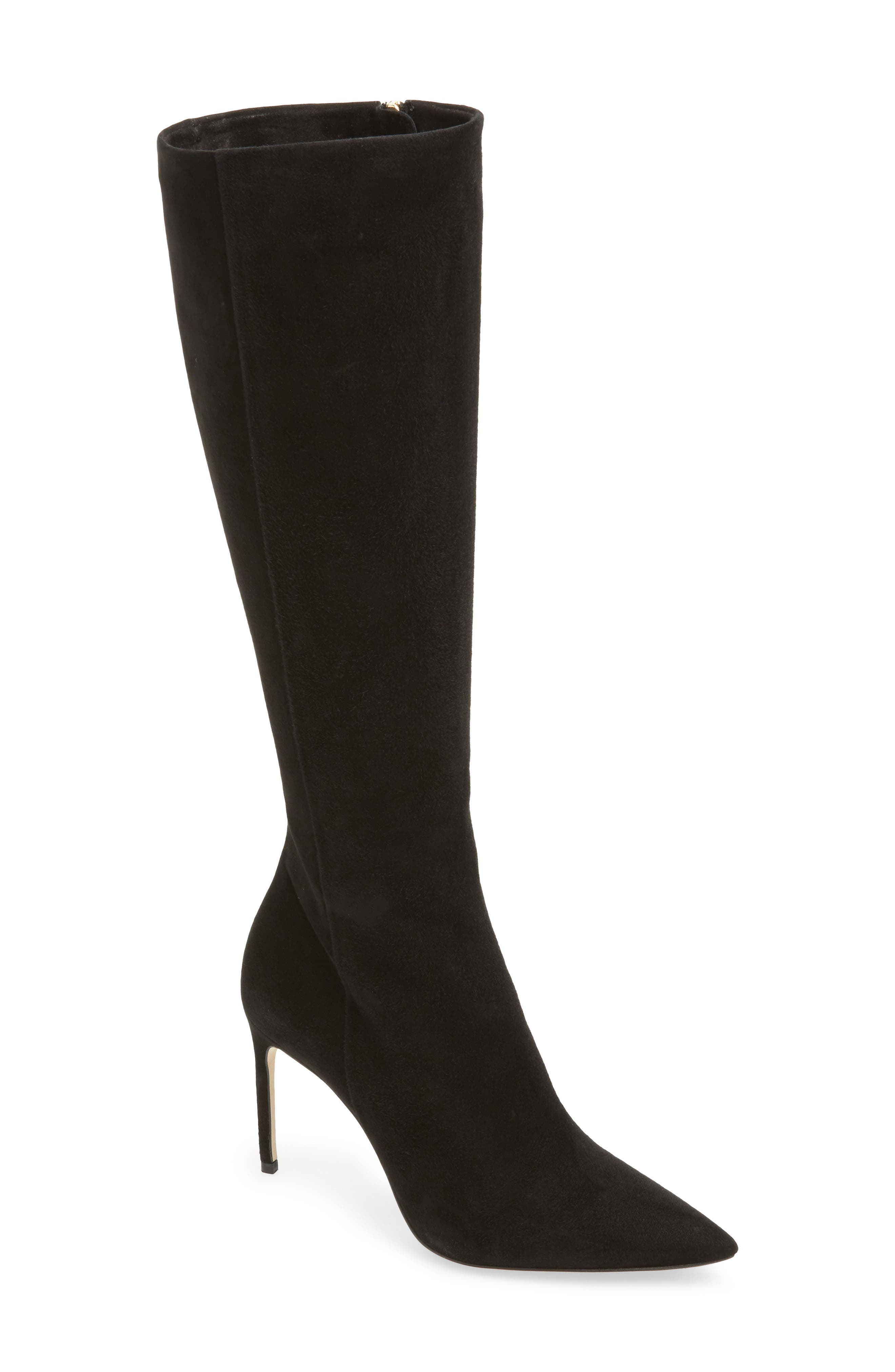 BRIAN ATWOOD Knee High Boot in Black Suede