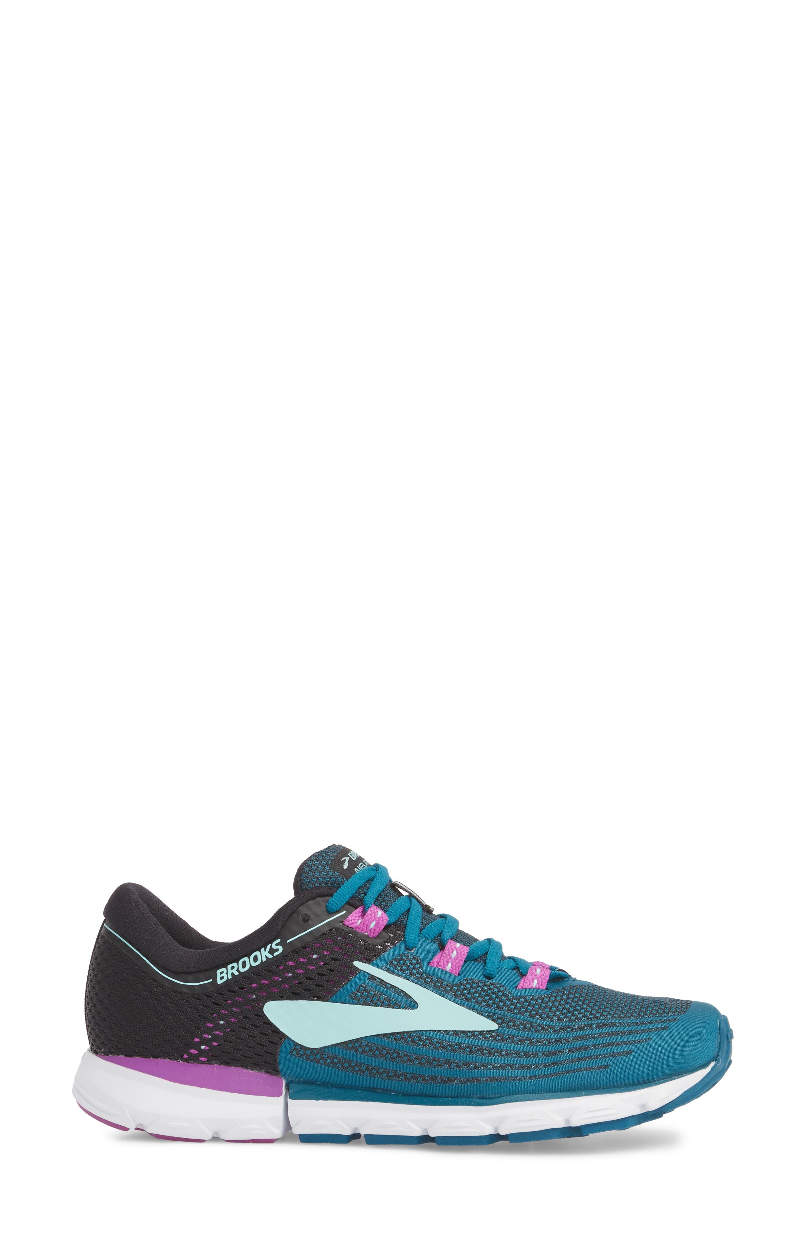 Neuro 3 Running Shoe,                             Alternate thumbnail 3, color,                             LAGOON/ BLACK/ PURPLE