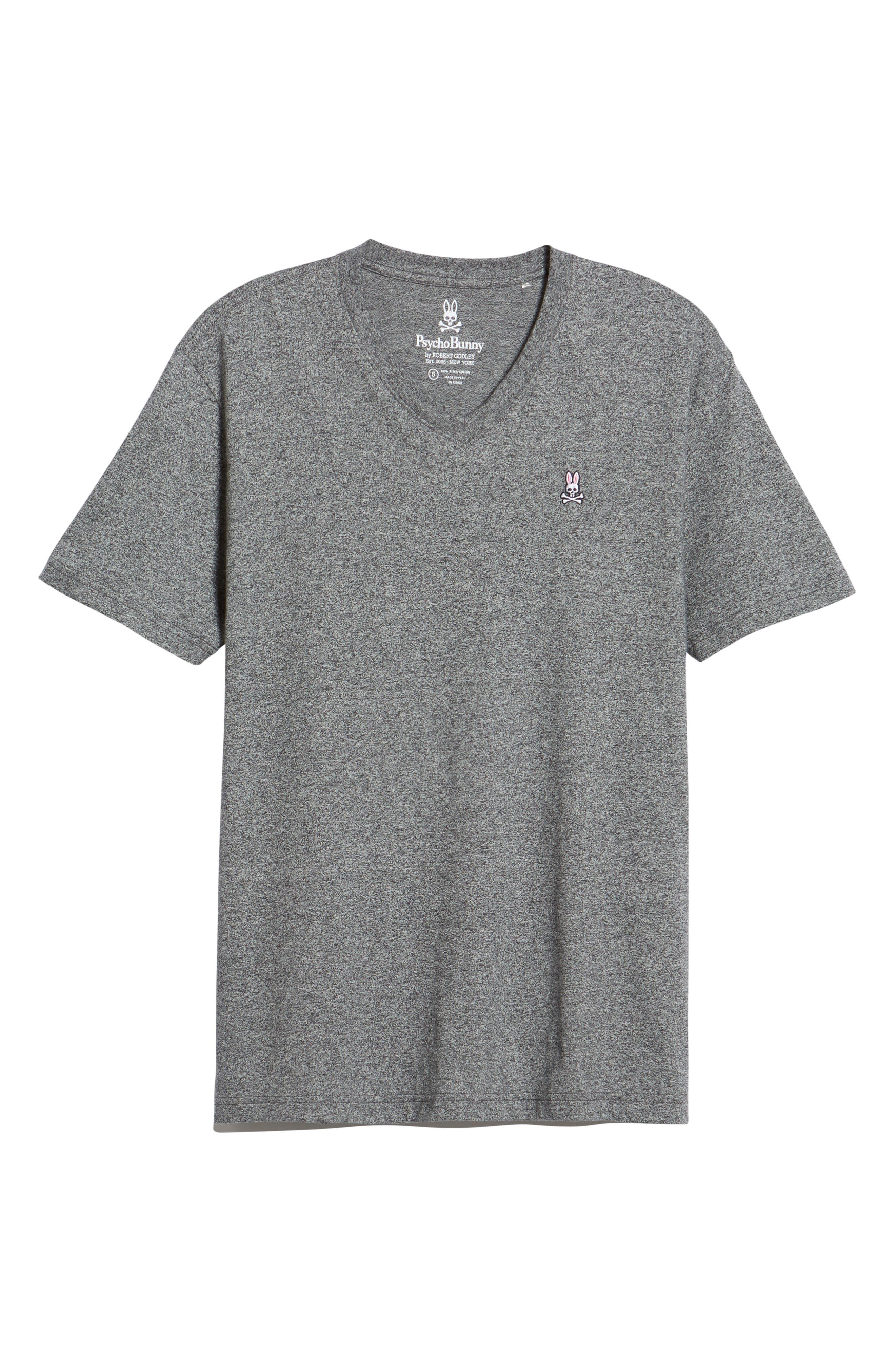 V-Neck T-Shirt,                             Alternate thumbnail 6, color,                             GREY SALT PEPPER
