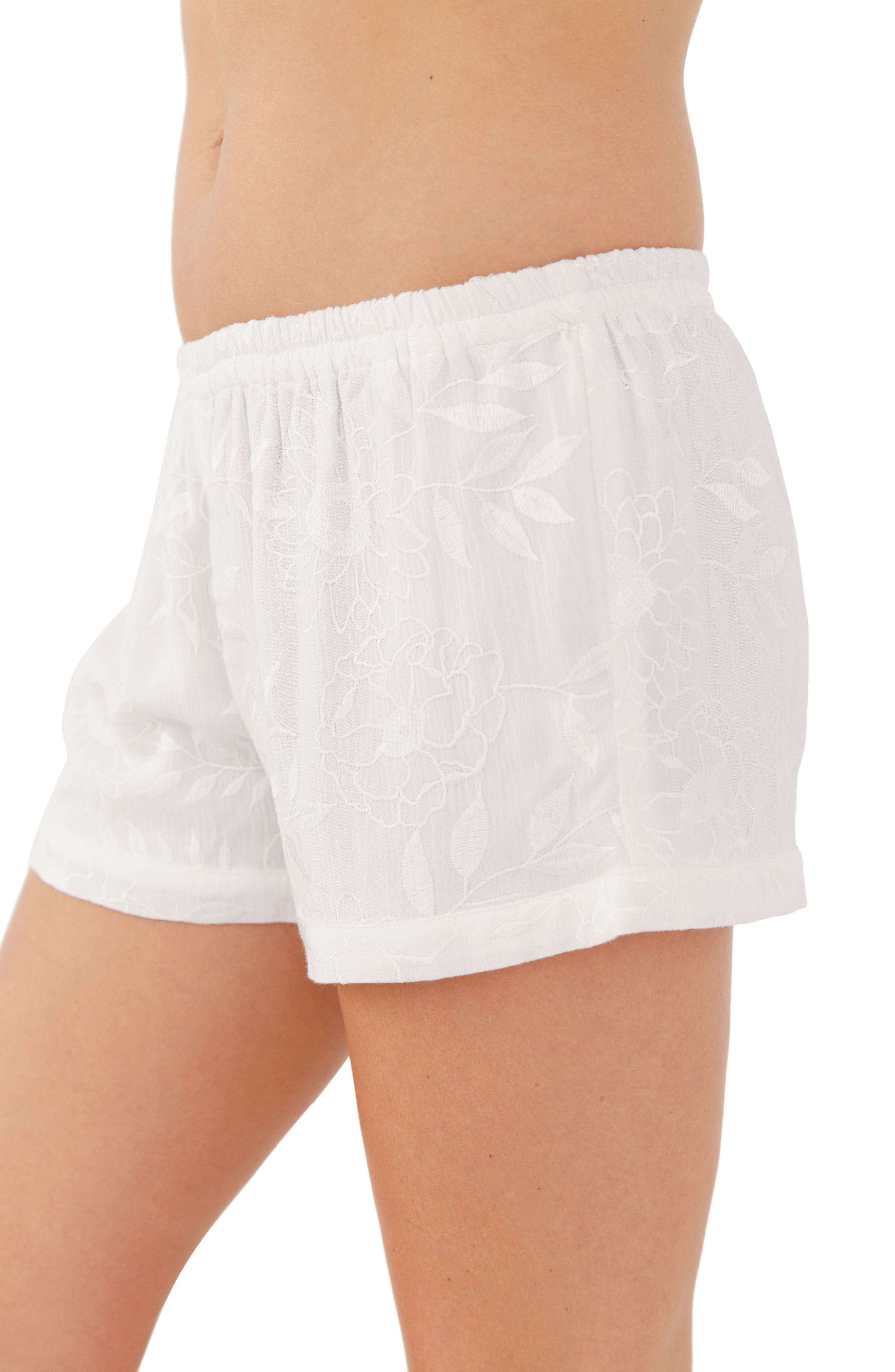 Embroidered Short Pajamas,                             Alternate thumbnail 2, color,